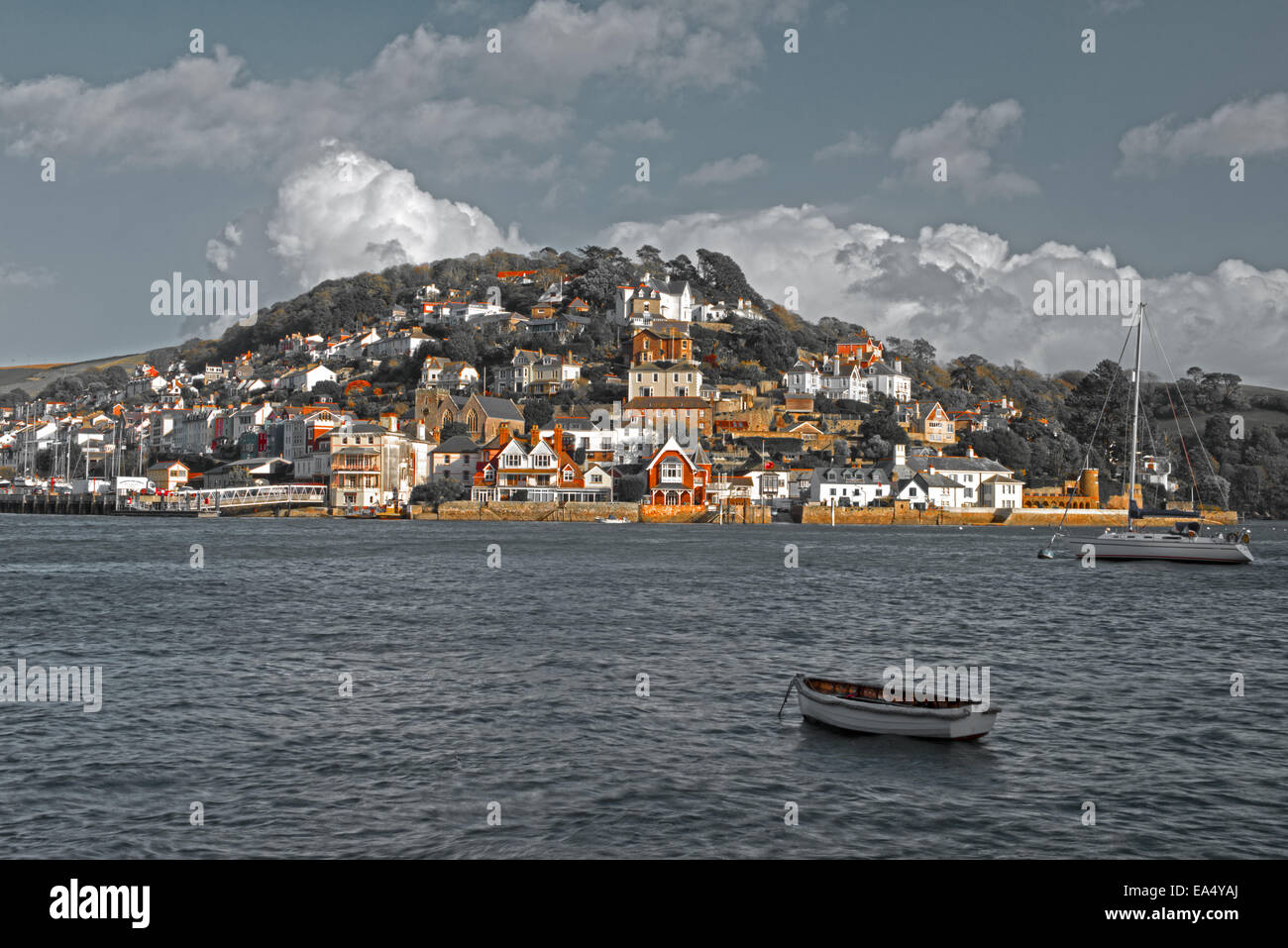 Kingswear et la rivière Dart, South Hams, Devon, Angleterre, Royaume-Uni. Photo Stock