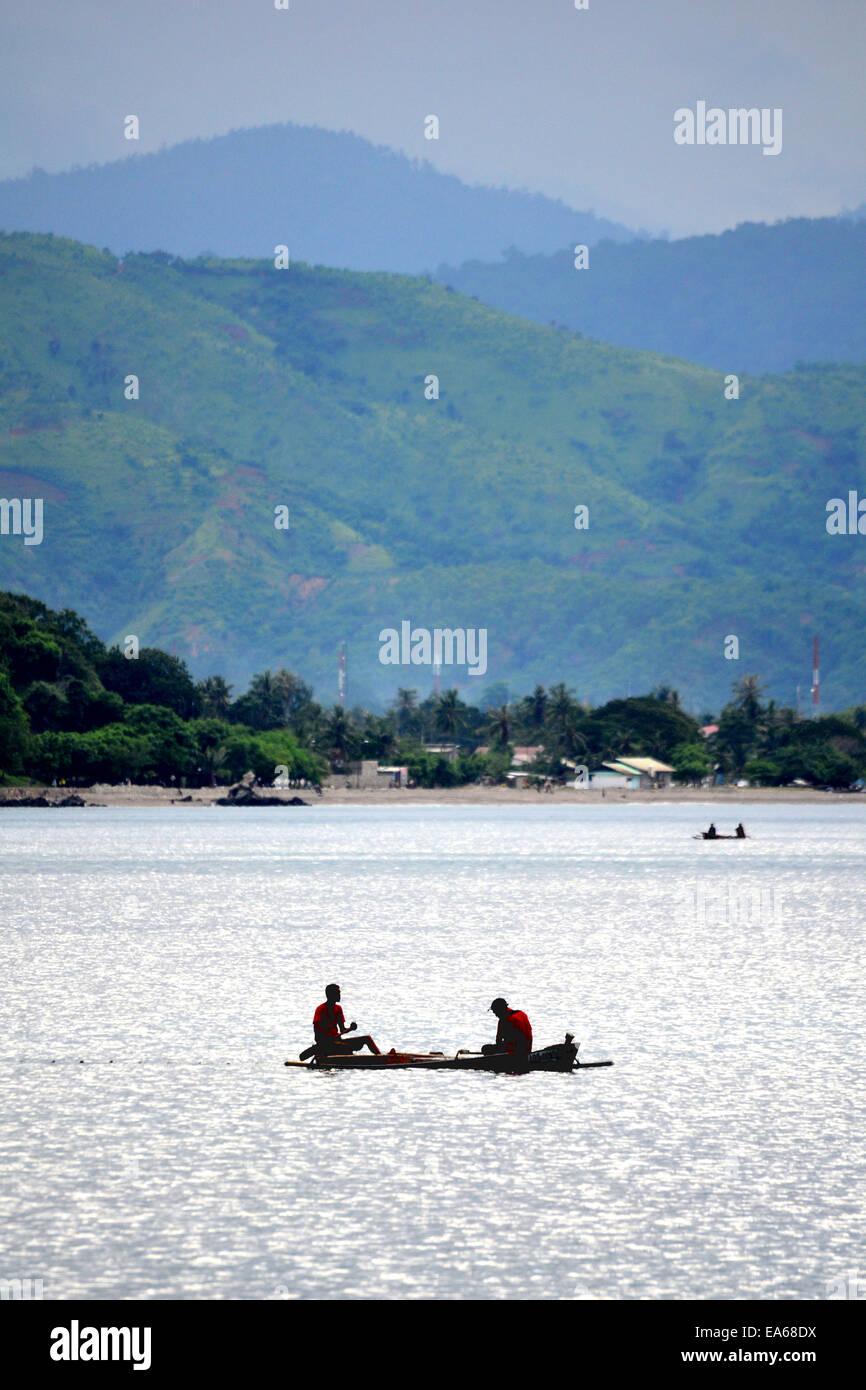 Pêcheur à Dili, au Timor oriental Banque D'Images