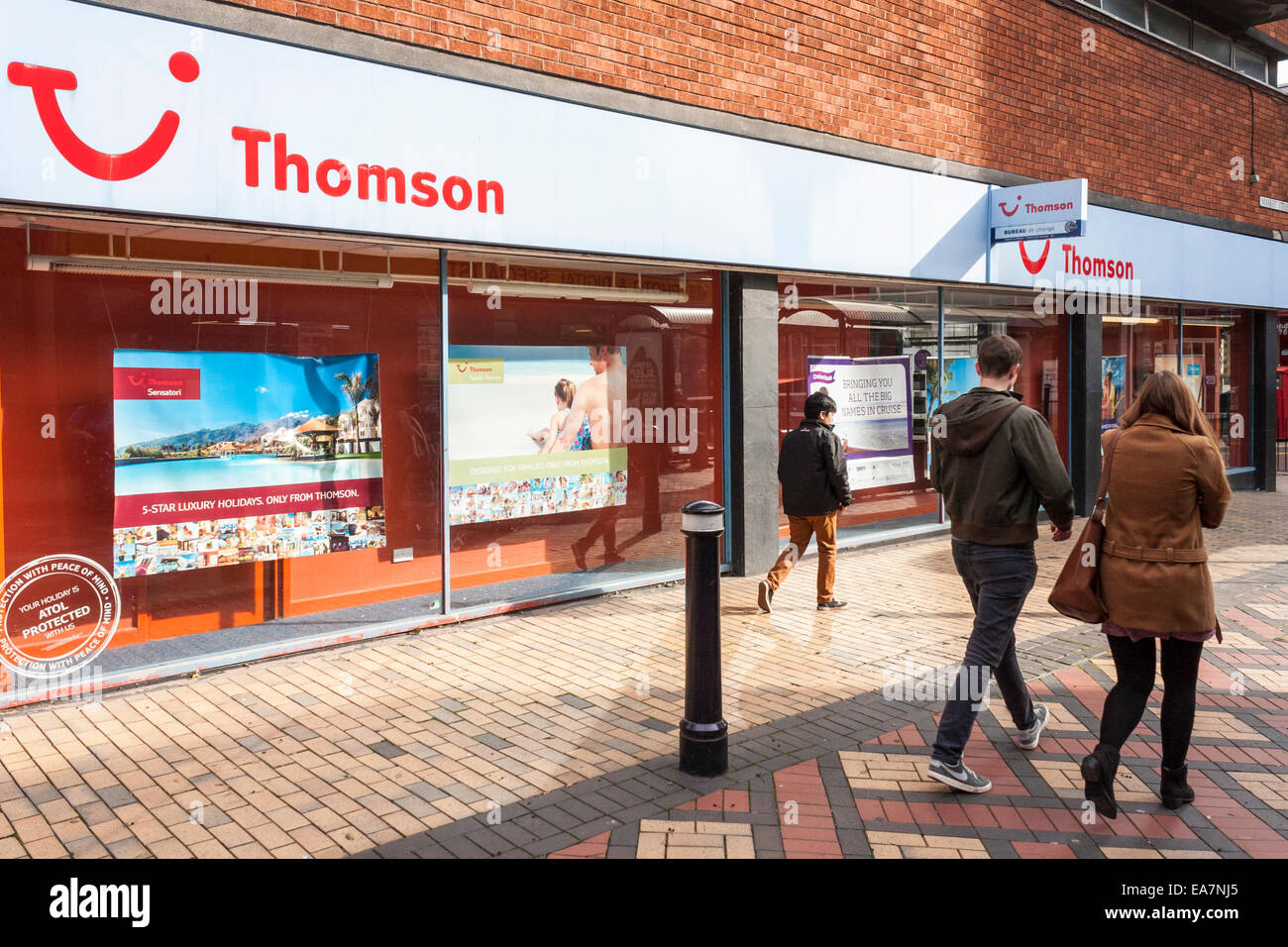 Thomson Holidays travel agent, Maidenhead, Berkshire, England, GB, au Royaume-Uni. Photo Stock