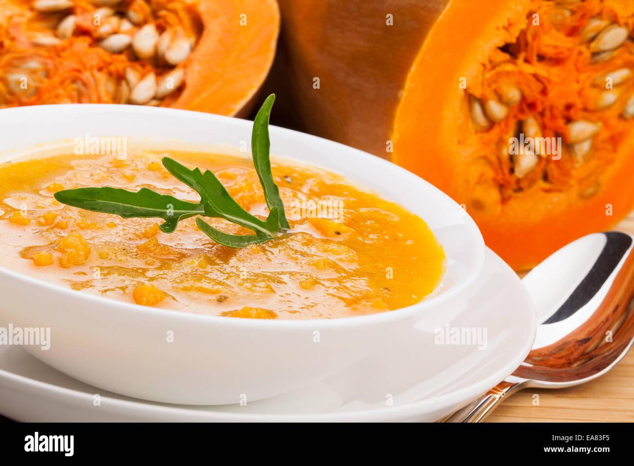 Soupe à la courge musquée Photo Stock