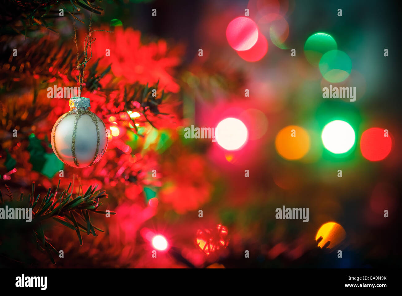 Decorated Christmas Tree Photo Stock