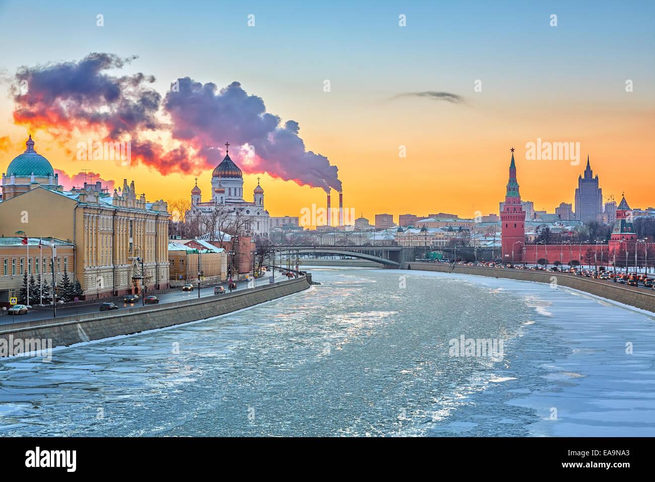 L'hiver à Moscou Photo Stock