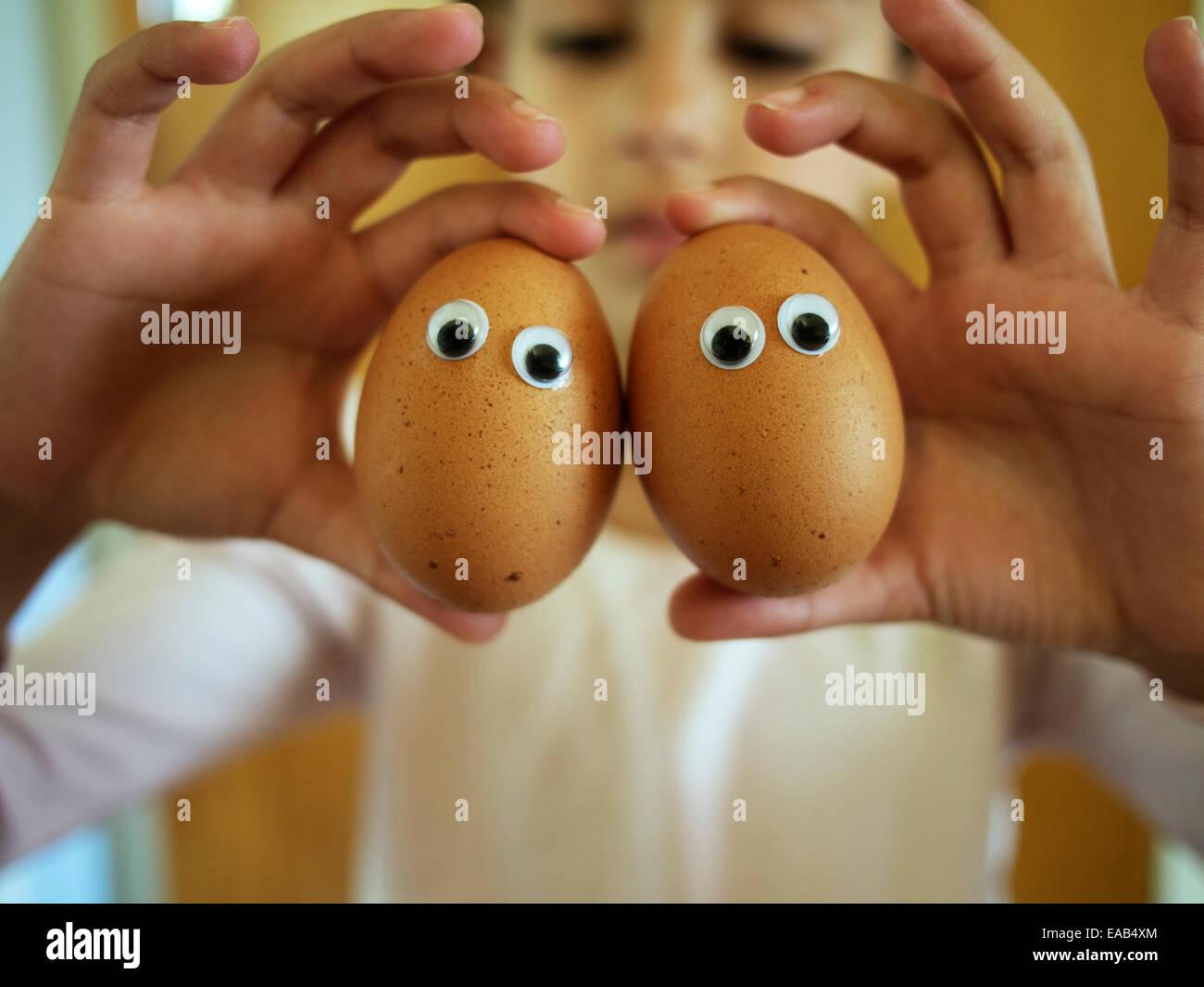 Eggy yeux Banque D'Images
