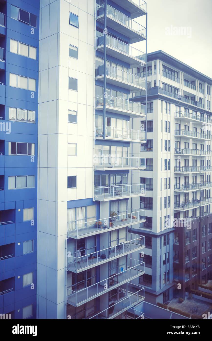 Tours, des maisons, appartements, à Auckland, en Nouvelle Zélande Photo Stock
