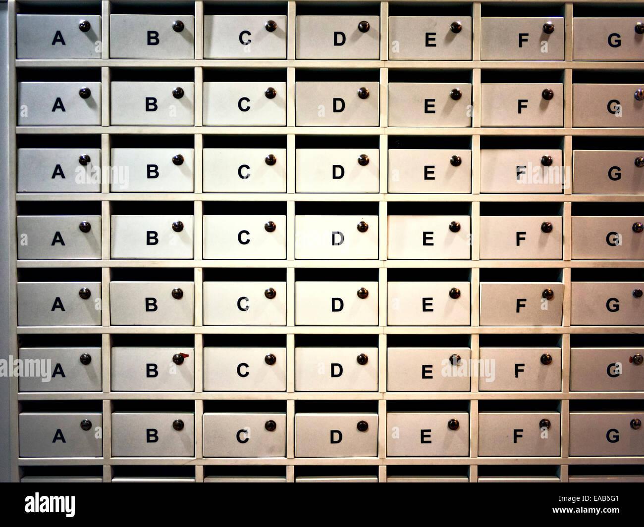 Vacances les boîtes aux lettres. Banque D'Images