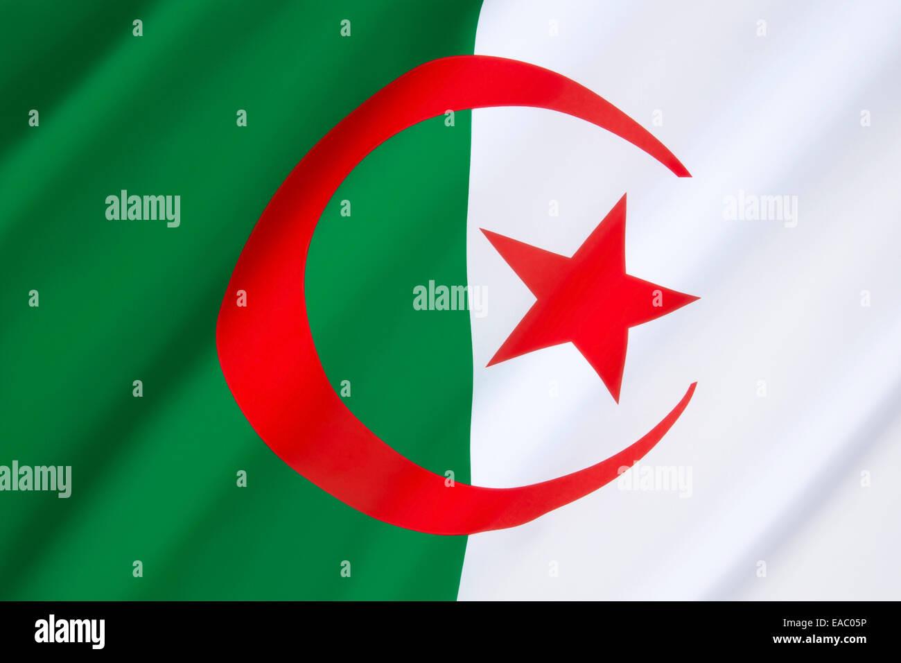 Drapeau de l'Algérie Photo Stock