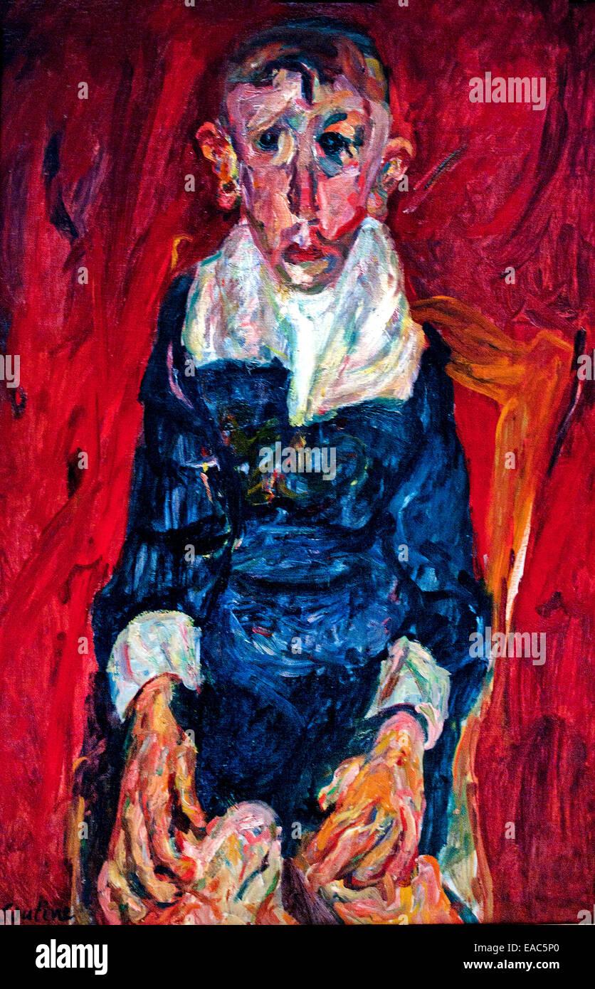 L'Idiot par Chaim Soutine 1893-1943 France français né en Lituanie Photo Stock