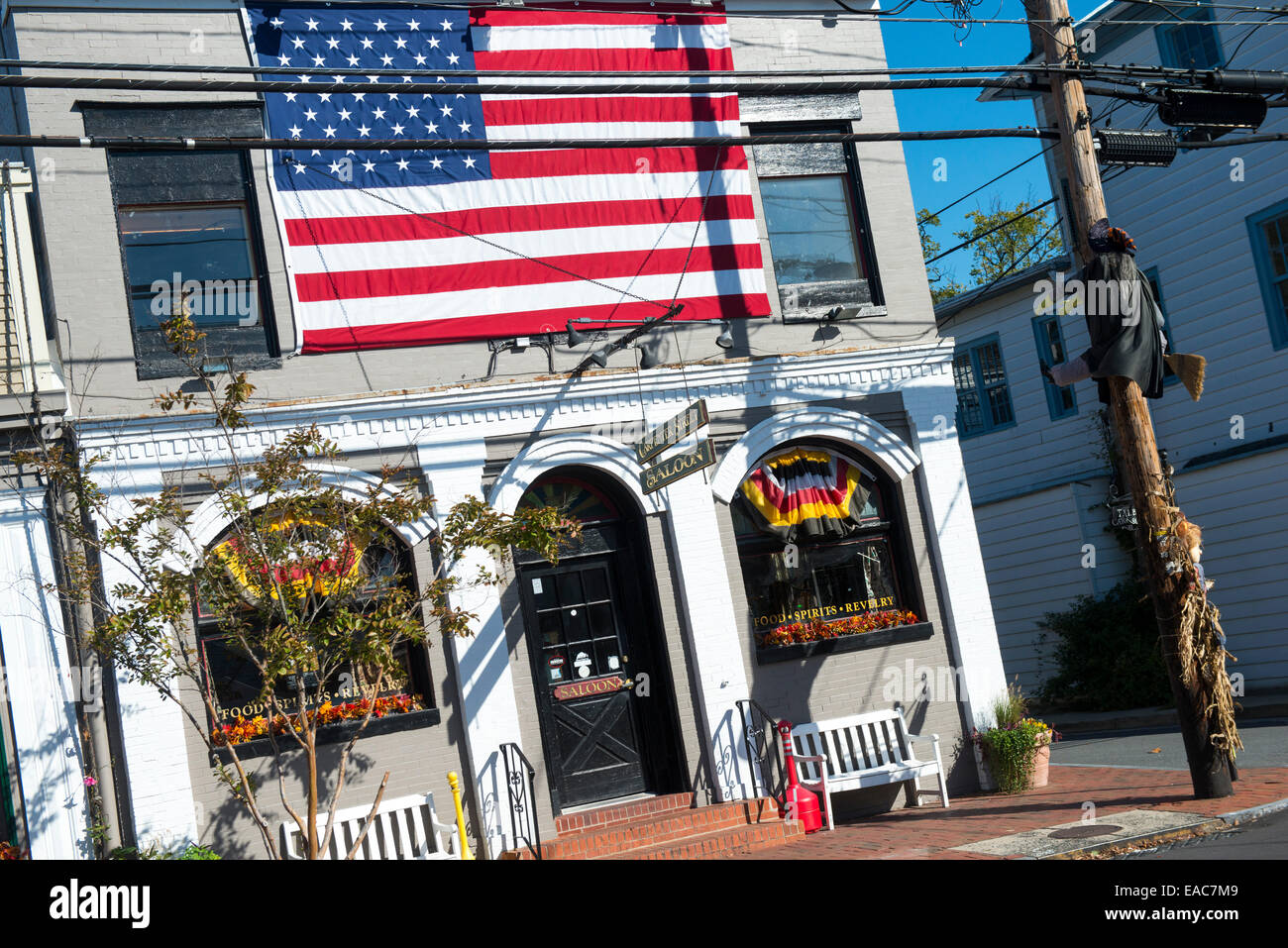 Carpenter St Saloon à Saint Michaels, Maryland USA Photo Stock