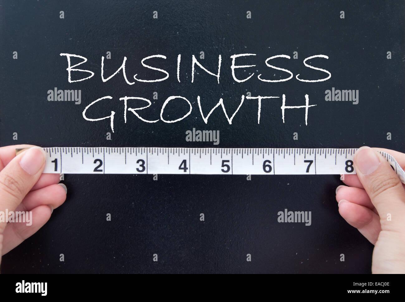 La mesure de la croissance de l'entreprise Photo Stock