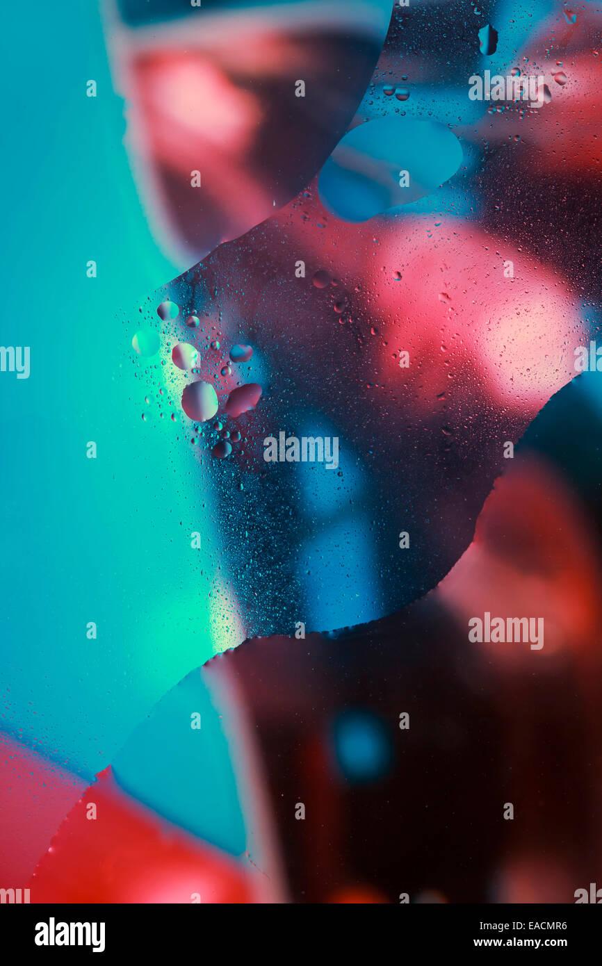 Résumé fond couleur bulles d'eau Photo Stock