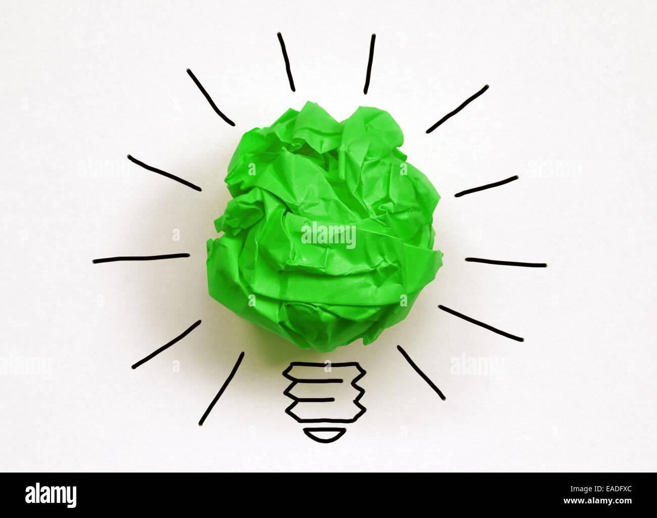 Pensez vert Photo Stock