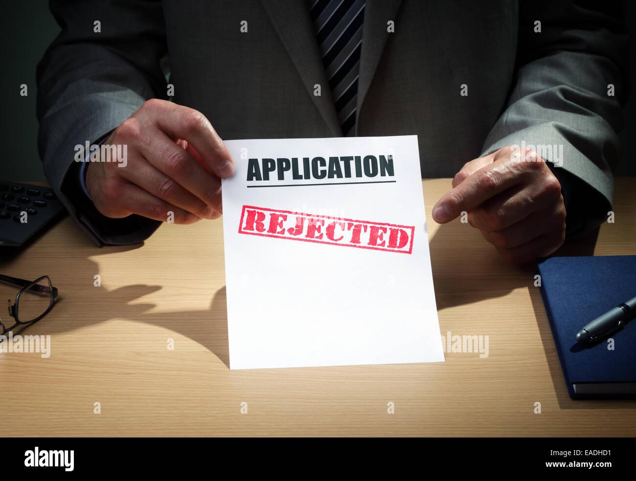 Demande rejetée Photo Stock