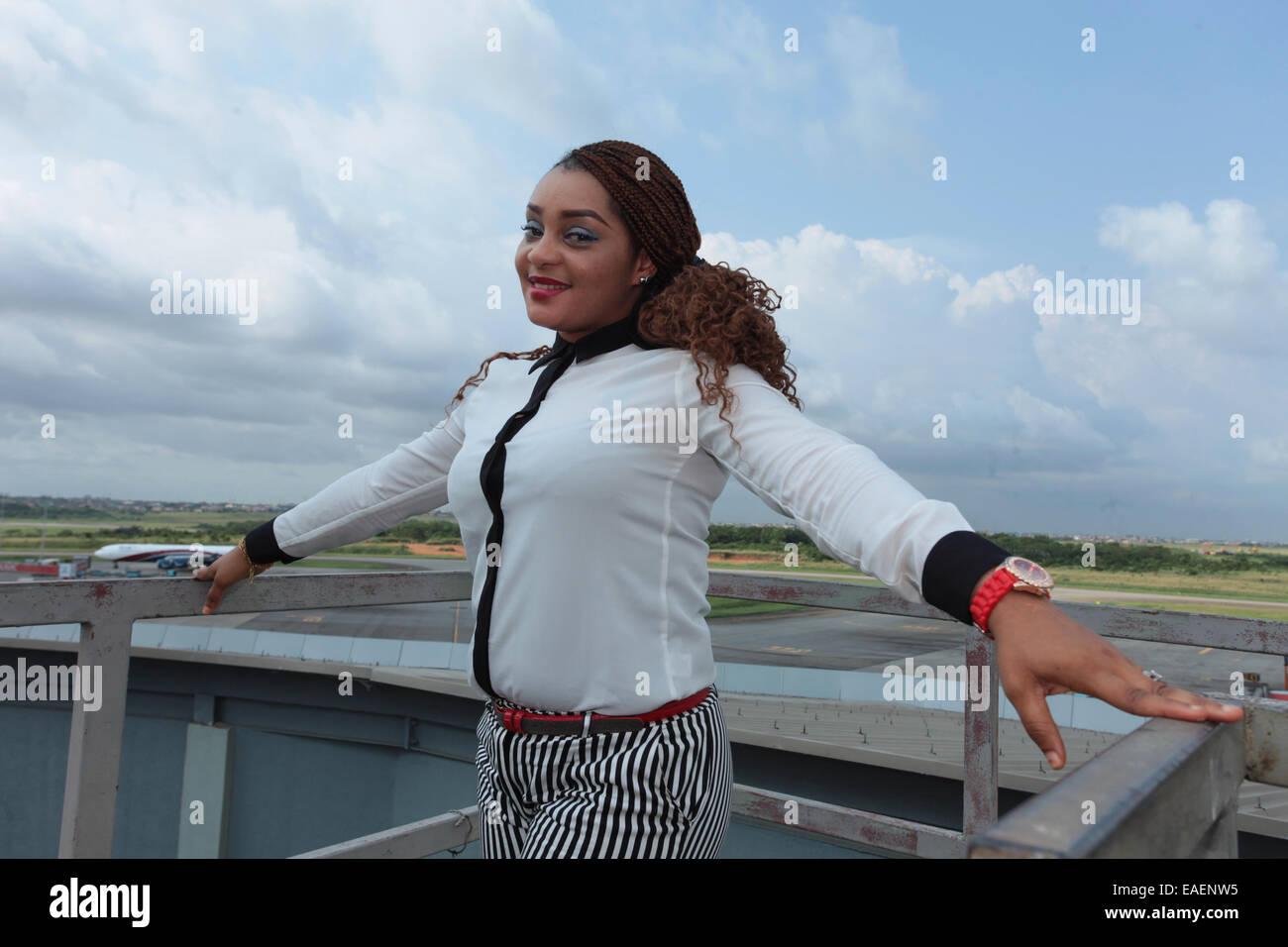 Portrait de dame Photo Stock