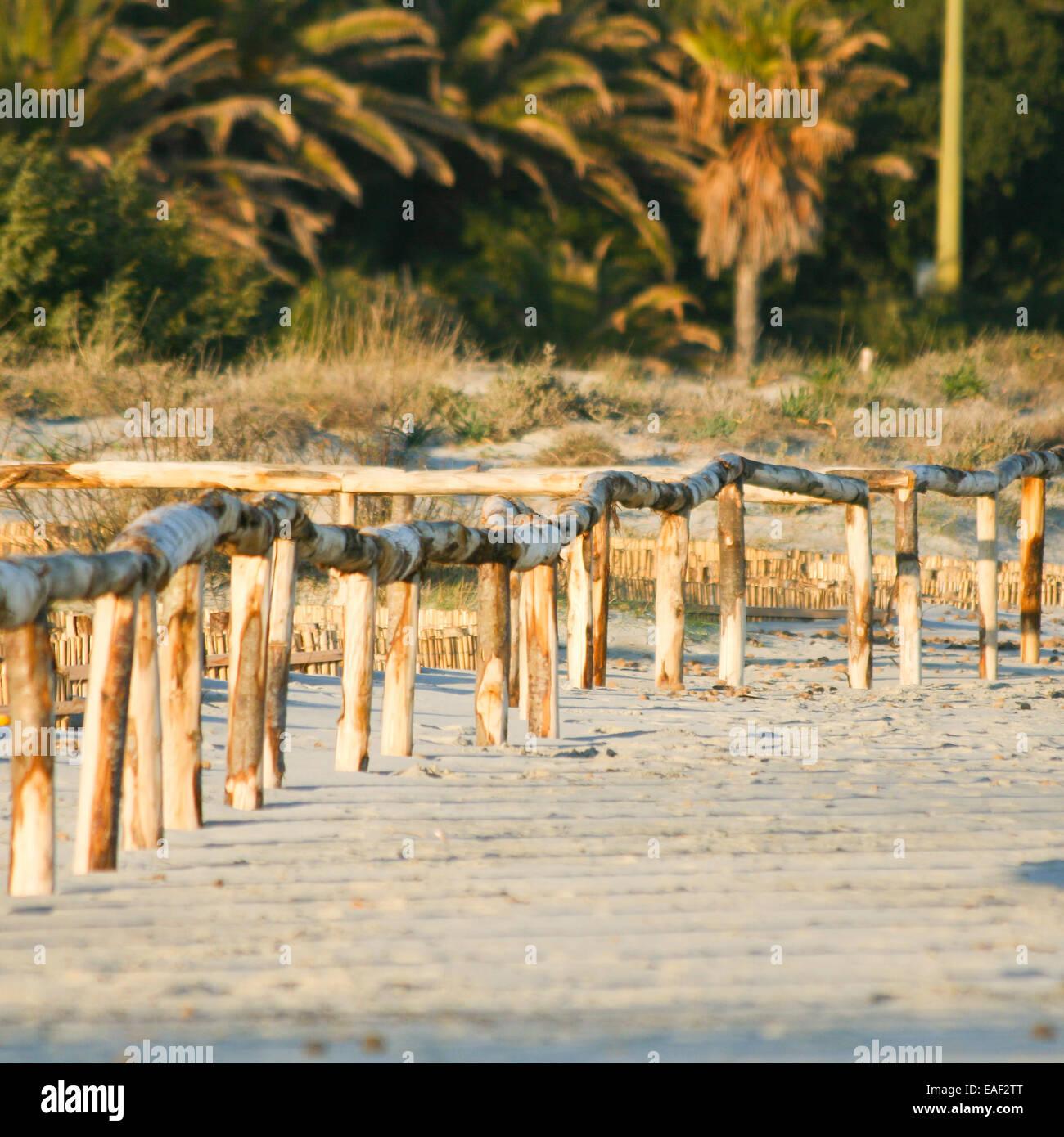 Sunrise artistique Clôture sur la plage Photo Stock