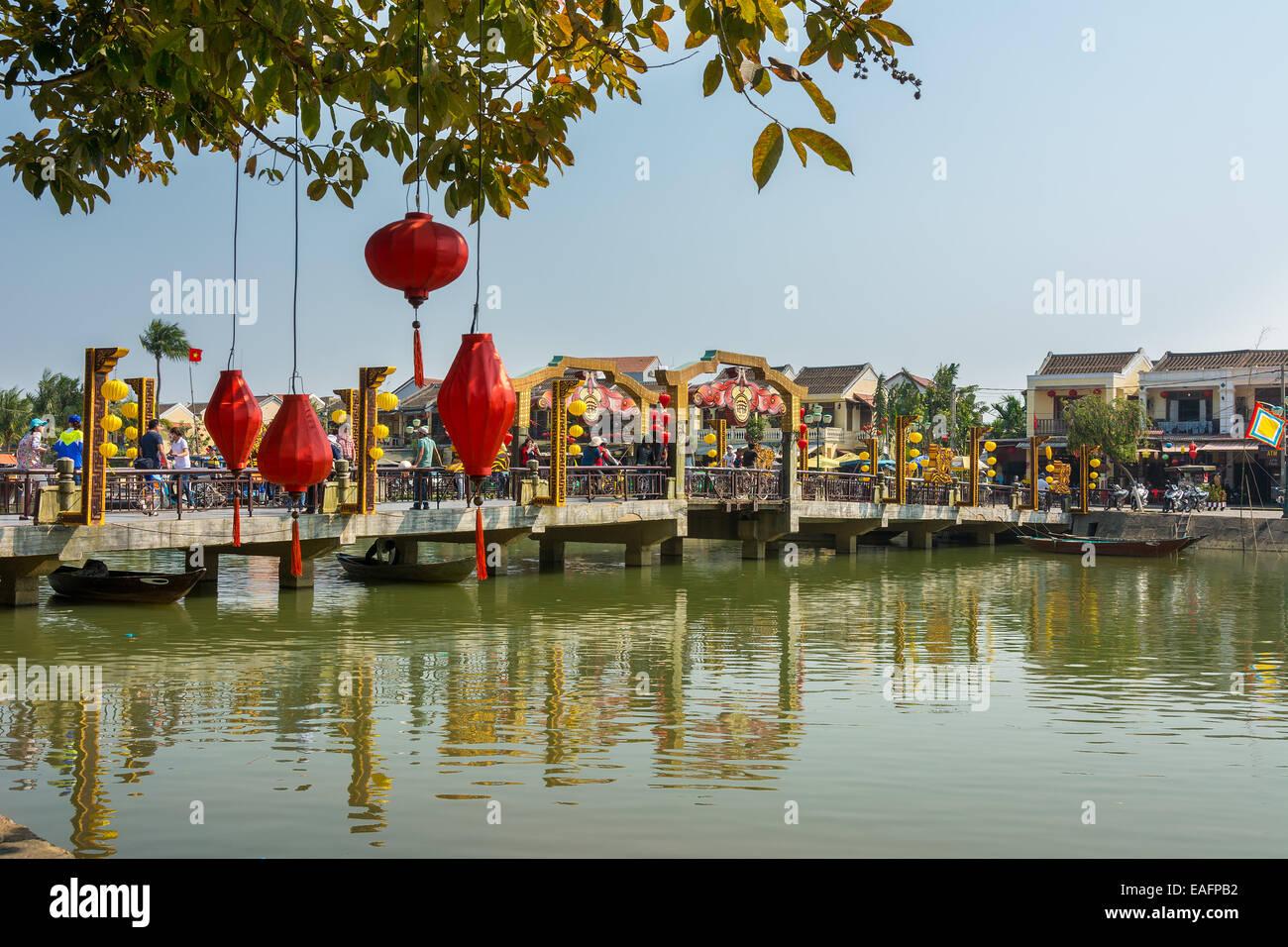 Thu Bồn River Bridge à Hoi An au Vietnam Photo Stock