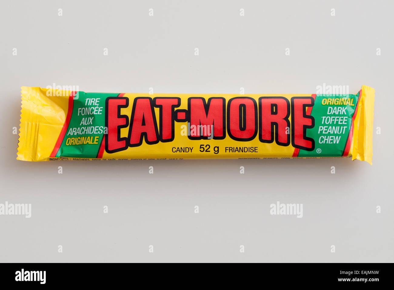 Un Eat-More candy bar, faite par la Compagnie Hershey. Photo Stock