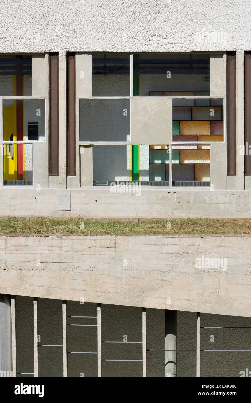 Monastère de Sainte-Marie de La Tourette, architecte Le Corbusier, Éveux, Rhône-Alpes, France Banque D'Images