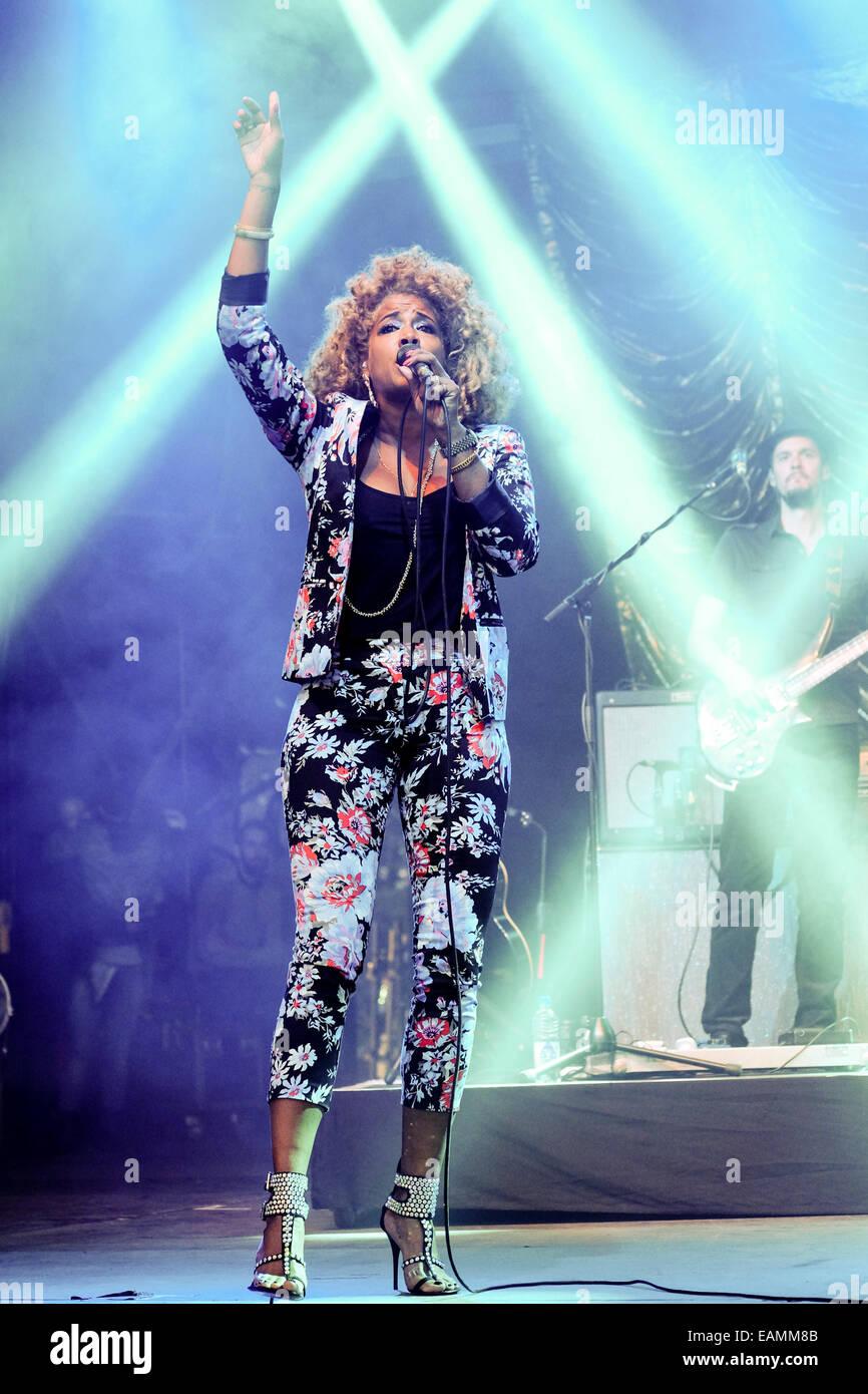 Kelis joue Festival n° 6 le 07/09/2014 Festival au n° 6, Portmeirion. Les personnes sur la photo: Photo Stock