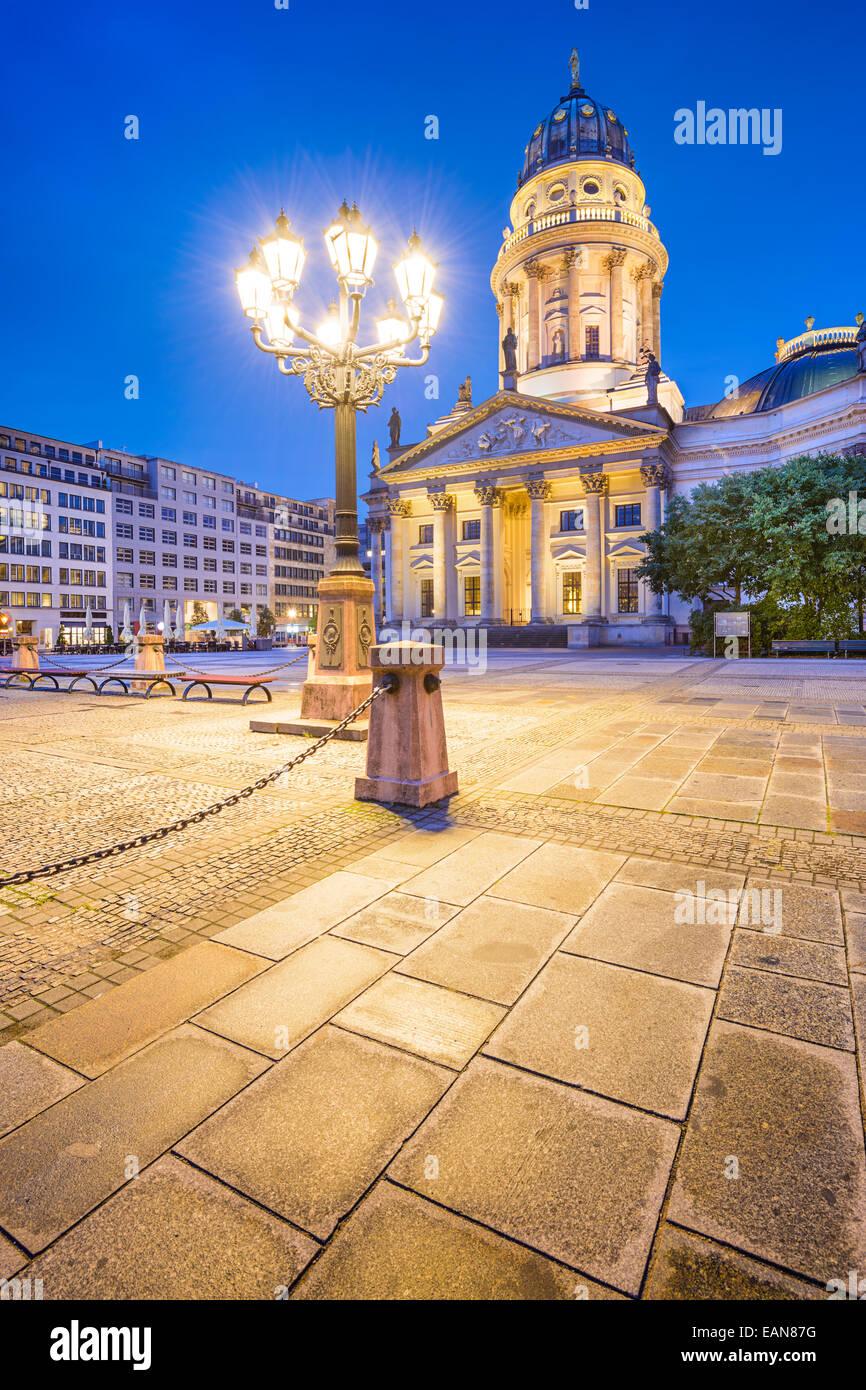 La place historique de Gendarmenmarkt à Berlin, Allemagne. Photo Stock