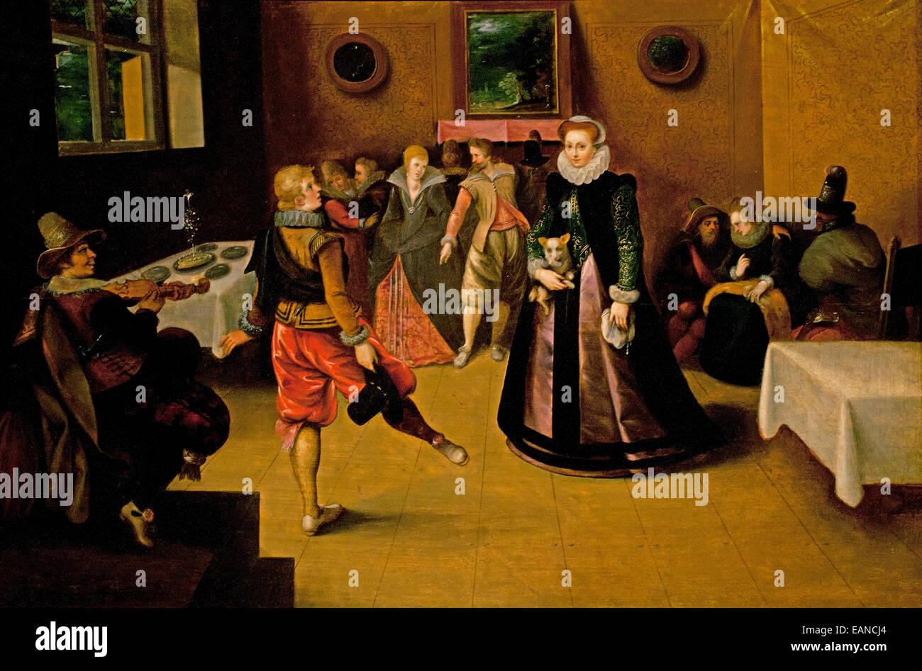 Scène de Danse - Danse Scène Hieronymus Francken 1578 - 1623 Belgique baroque flamand Photo Stock