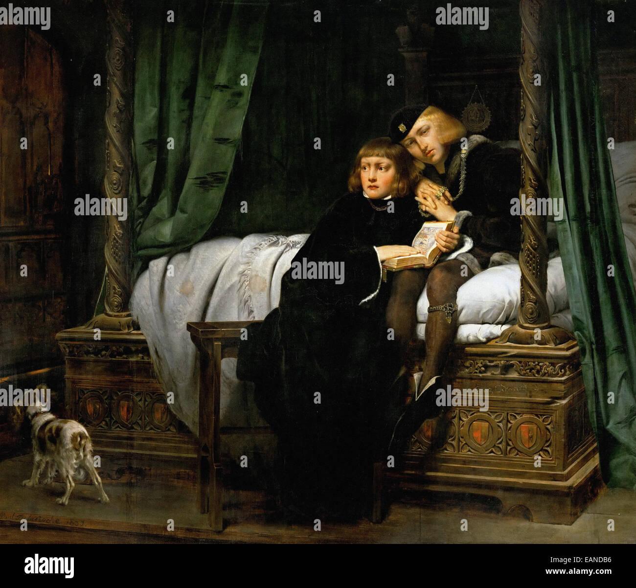 Paul Delaroche mort du fils du roi Édouard dans la tour Banque D'Images