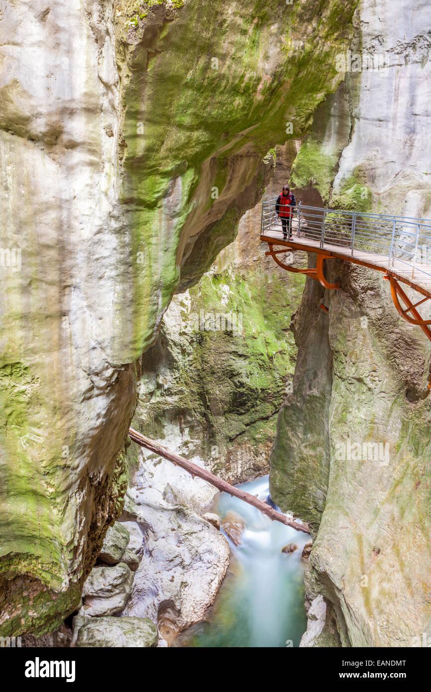 Les Gorges du Fier près d'Annecy, Haute-Savoie village, Rhône-Alpes, France Photo Stock
