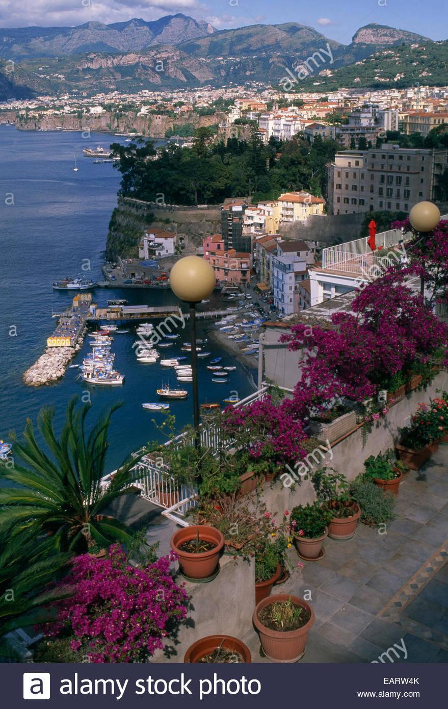 Une vue à couper le souffle de Marina Piccola. Banque D'Images