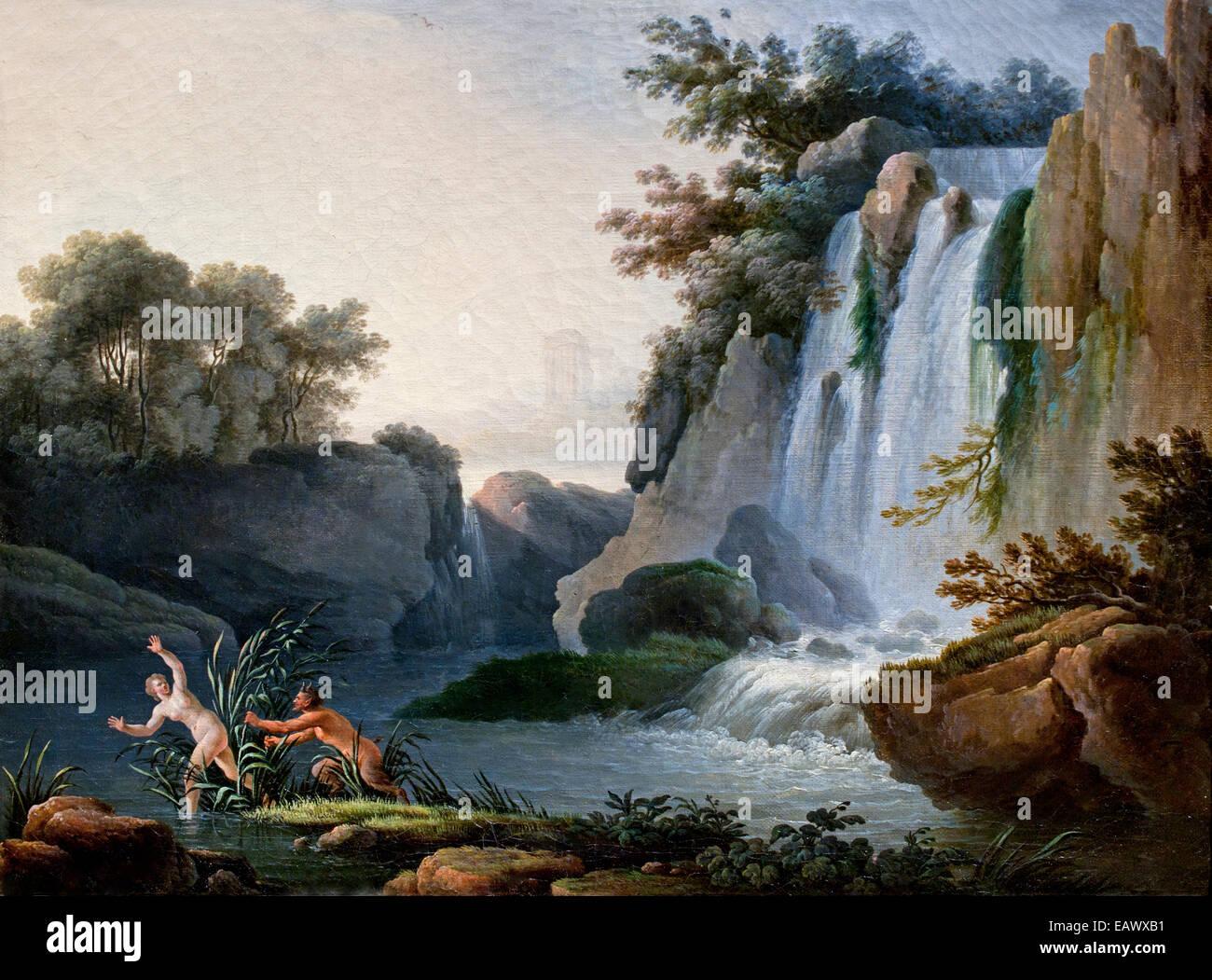 Pan et Syrinx ( la mythologie grecque ) Jean Henry - Henry D'Arles 1734 - 1784 France Photo Stock