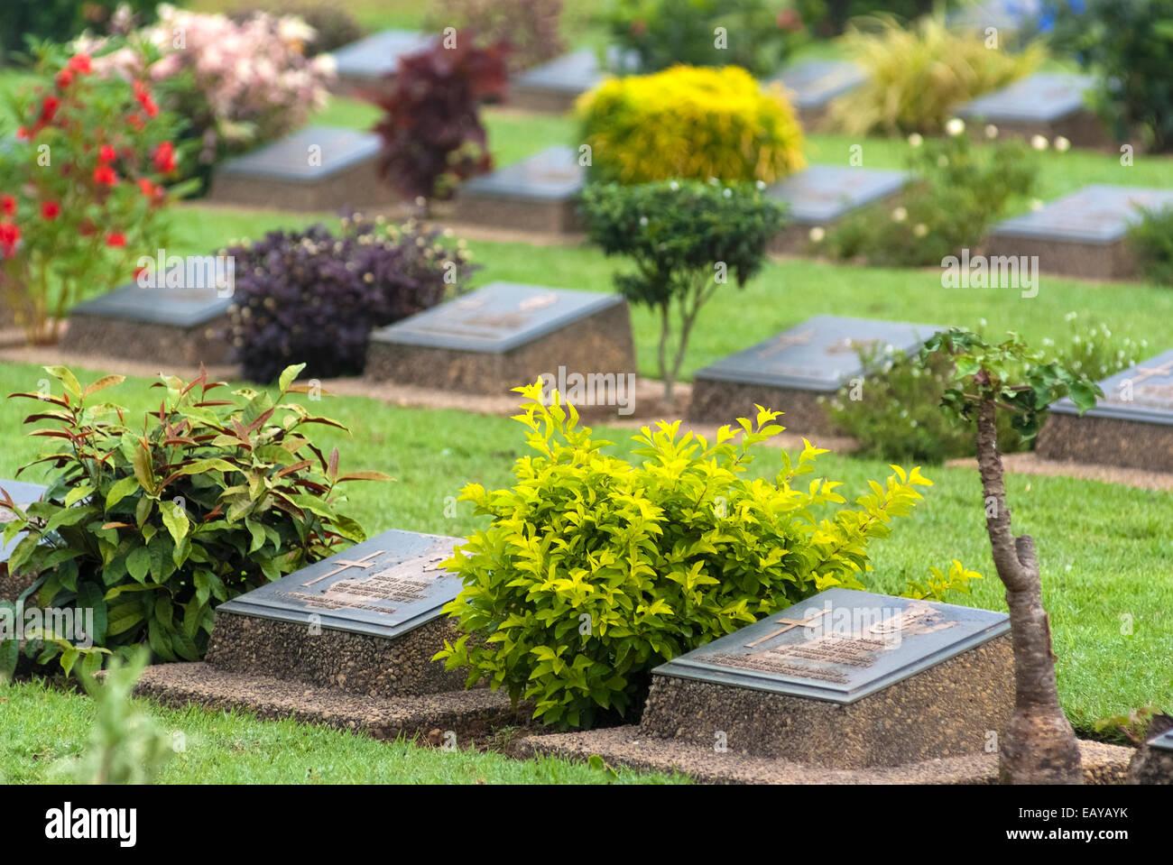 Htauk Kyant cimetière de guerre est la plus grande des trois cimetières de guerre au Myanmar Banque D'Images