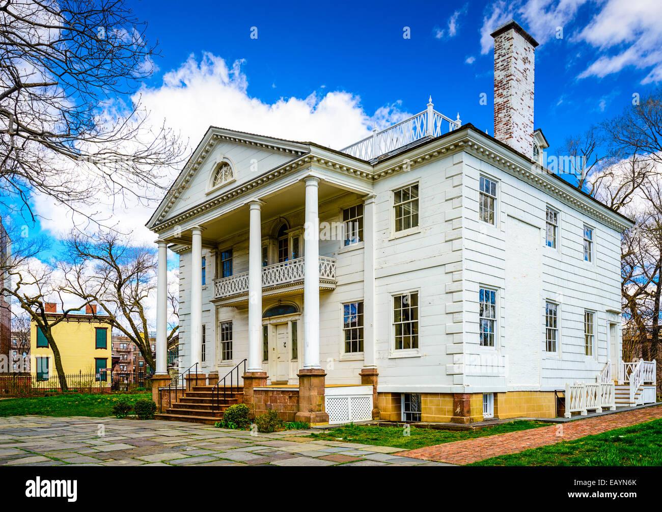 Historique Le Manoir Morris-Jumel dans Roger Morris Park, Washington Heights, New York, New York, USA. Photo Stock