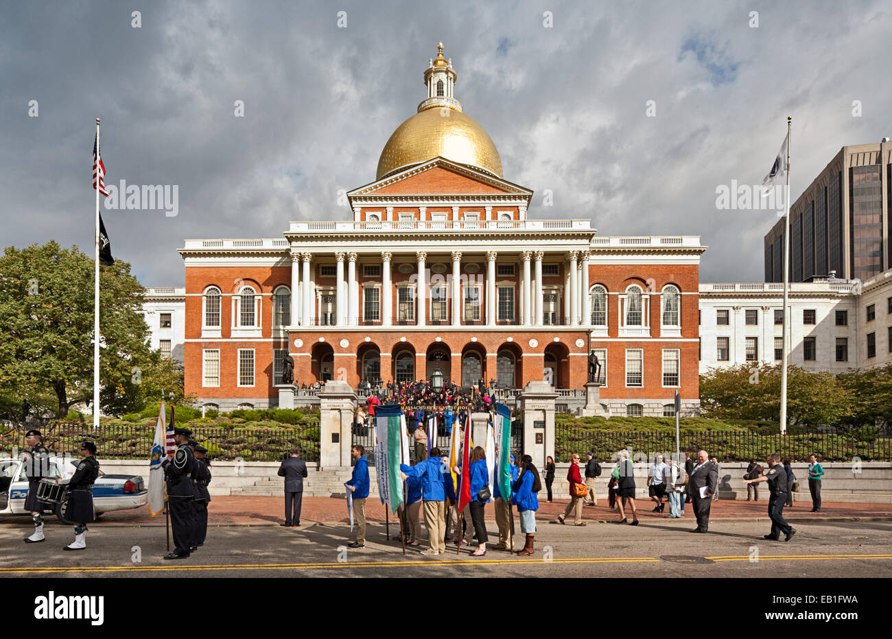 State House à Boston, Massachusetts Photo Stock