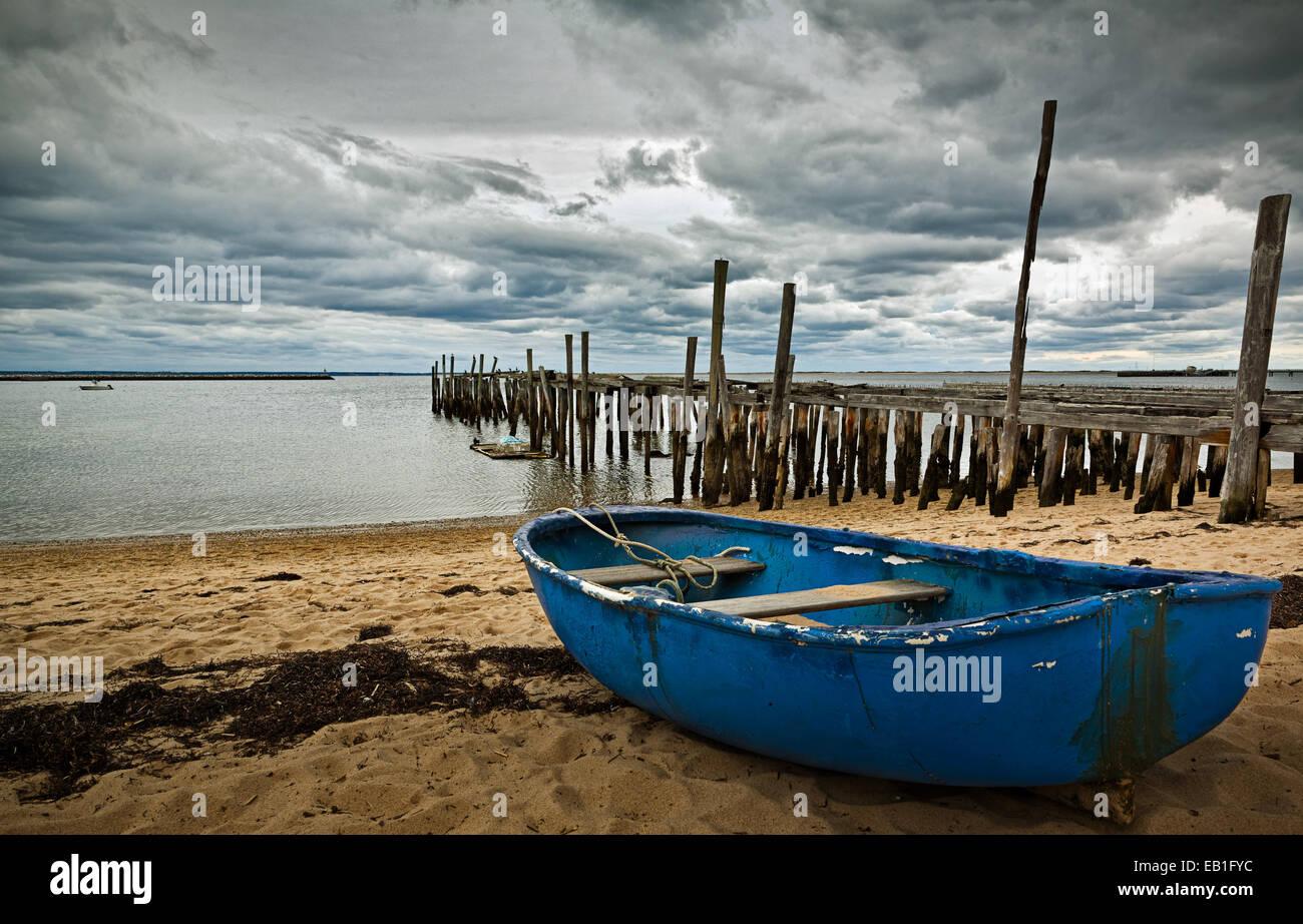 Jetée à l'abandon à Provincetown, Massachusetts. Photo Stock