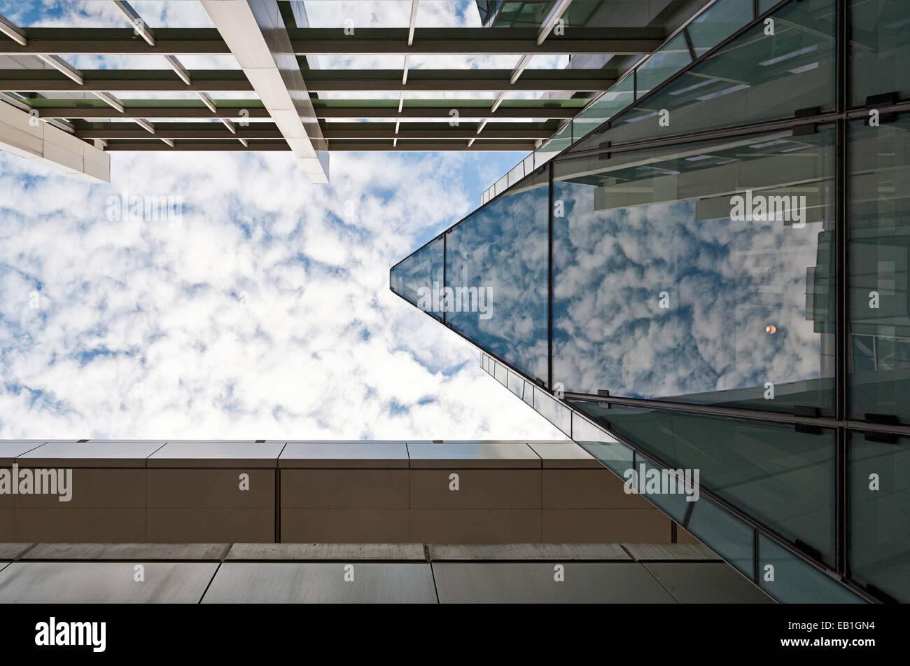 Détail architectural à l'aéroport de Boston. Photo Stock