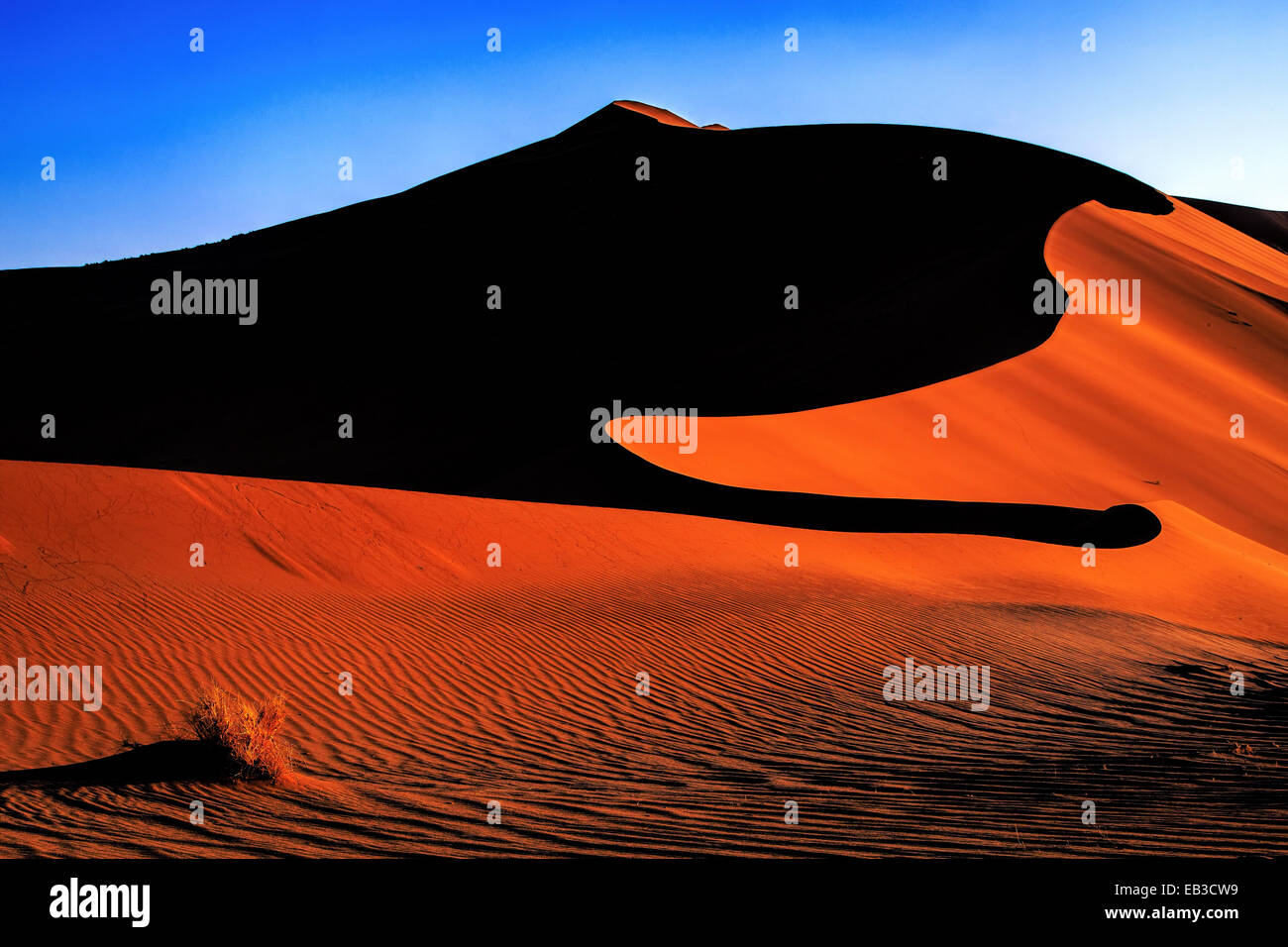 La Namibie, dunes de sable des Sossuslvlei Photo Stock
