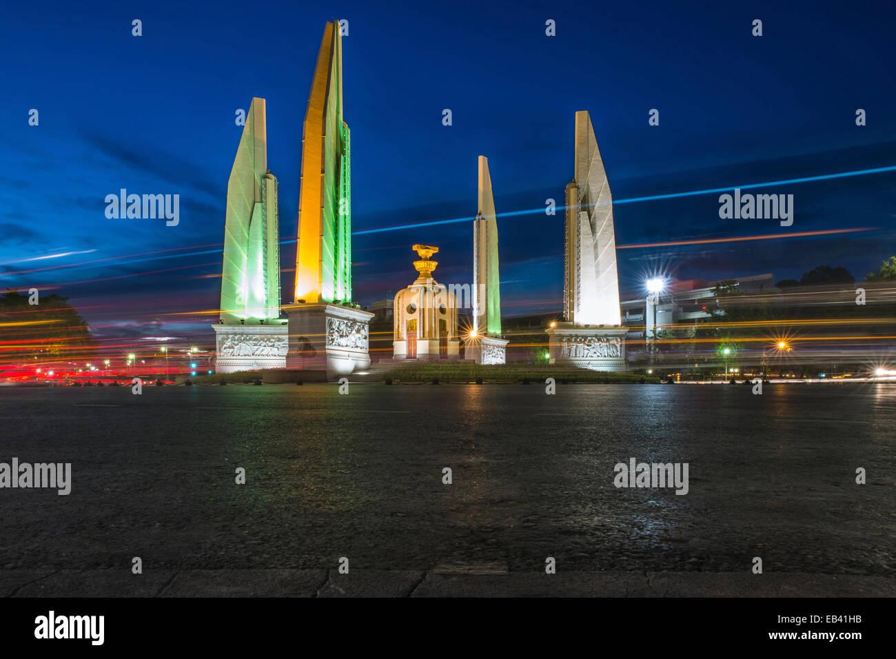 Le monument de la démocratie à Bangkok, Thaïlande Photo Stock