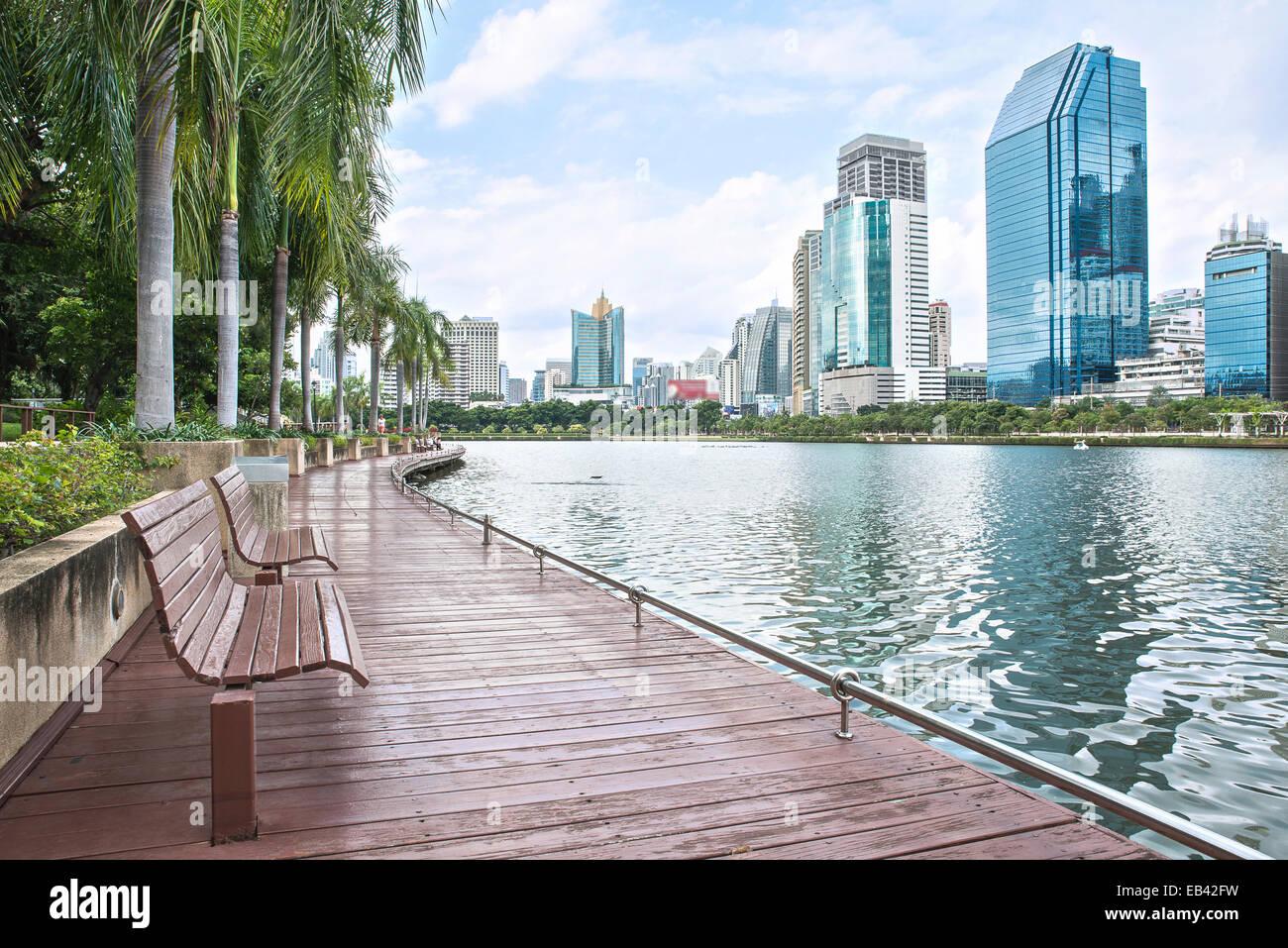 Vue sur la ville moderne de Bangkok, Thaïlande. Cityscape Photo Stock