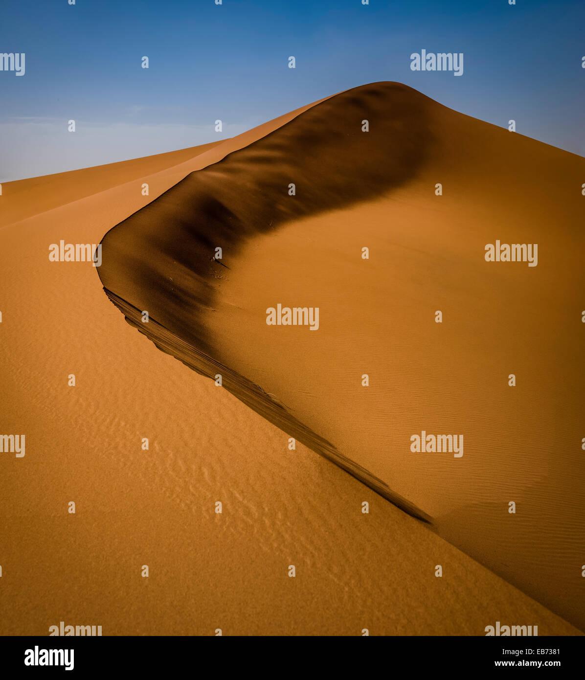 Désert du Sahara ERG ZHAR MAROC DUNES AFRIQUE Photo Stock
