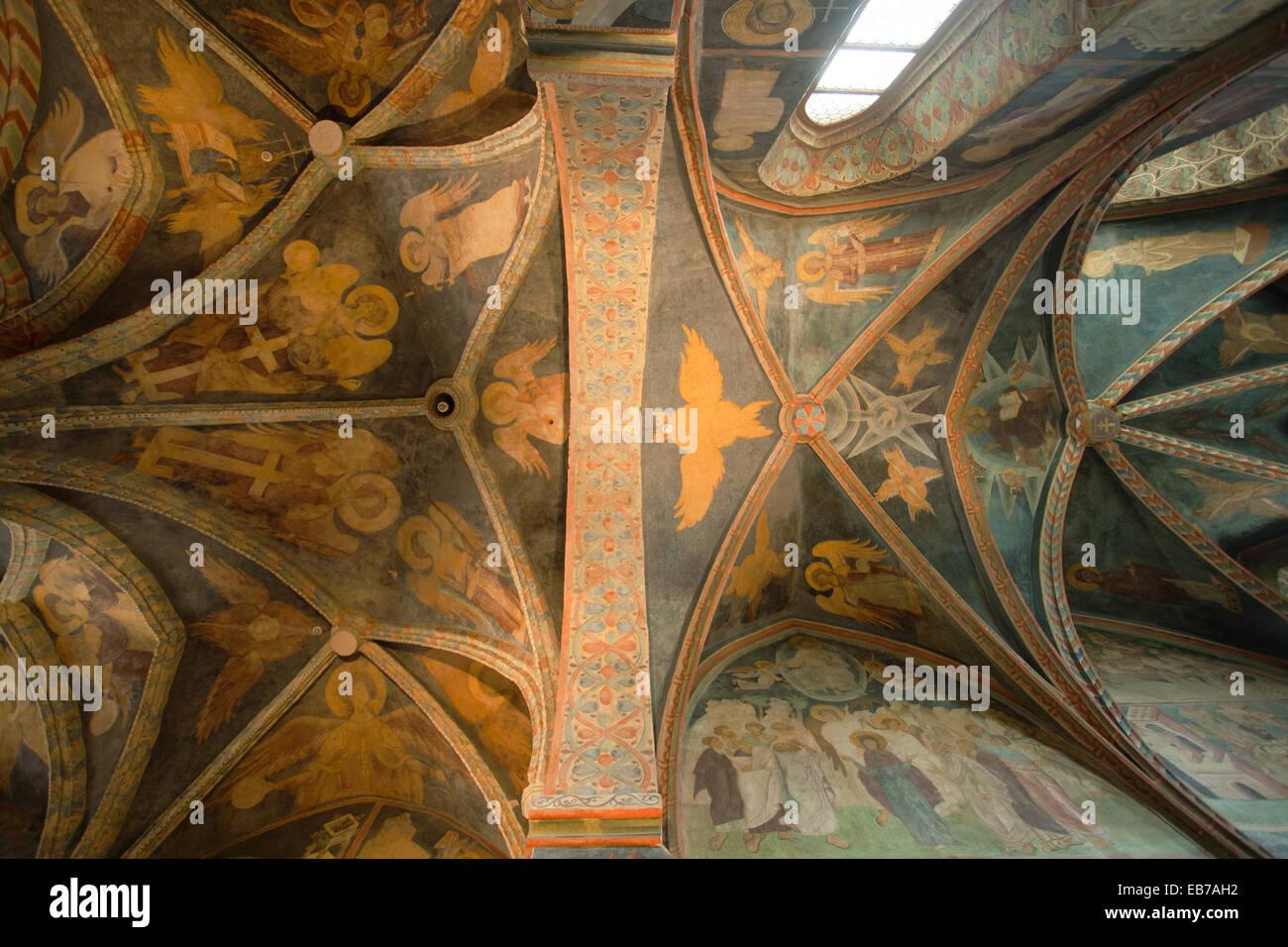 Chapelle gothique Sainte Trinité dans le Château de Lublin, Pologne. Un merveilleux exemple d'Ruthenian-Bizantine, Banque D'Images