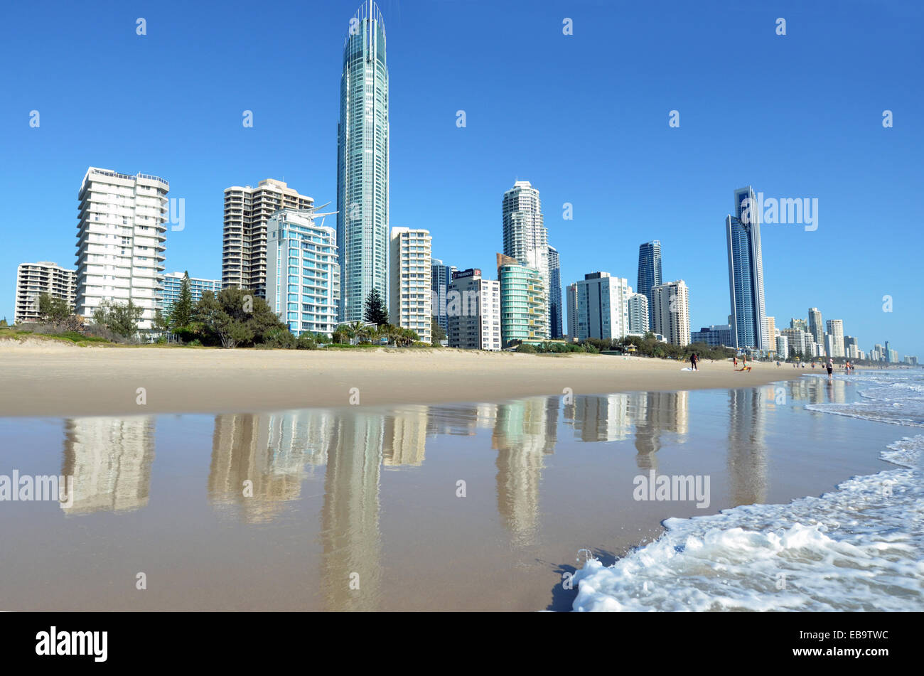 Toits de Surfers Paradise Gold Coast, Queensland en Australie. Photo Stock