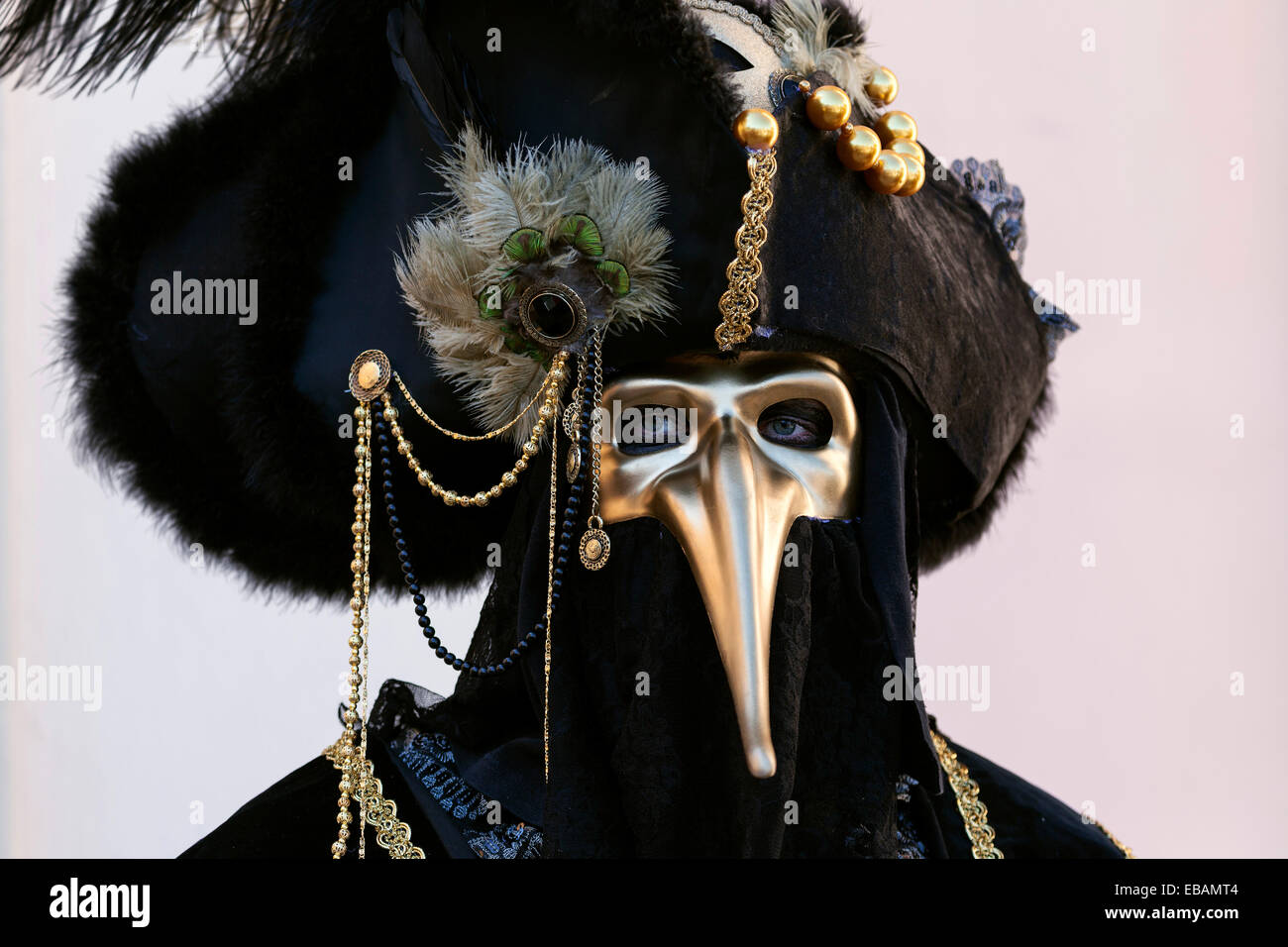 Vénitiens bec Masque pestmaske Phantom Crackle corbeaux Masque Yeux Masque