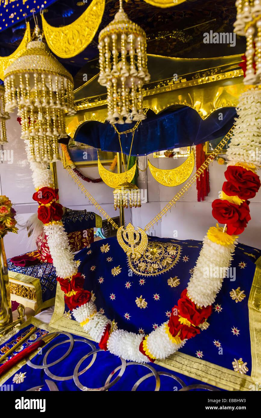 Asie 1517 Construire l'image couleur commémorer dev foi gourou fondateur ganab gurudwara Himalaya Inde Photo Stock