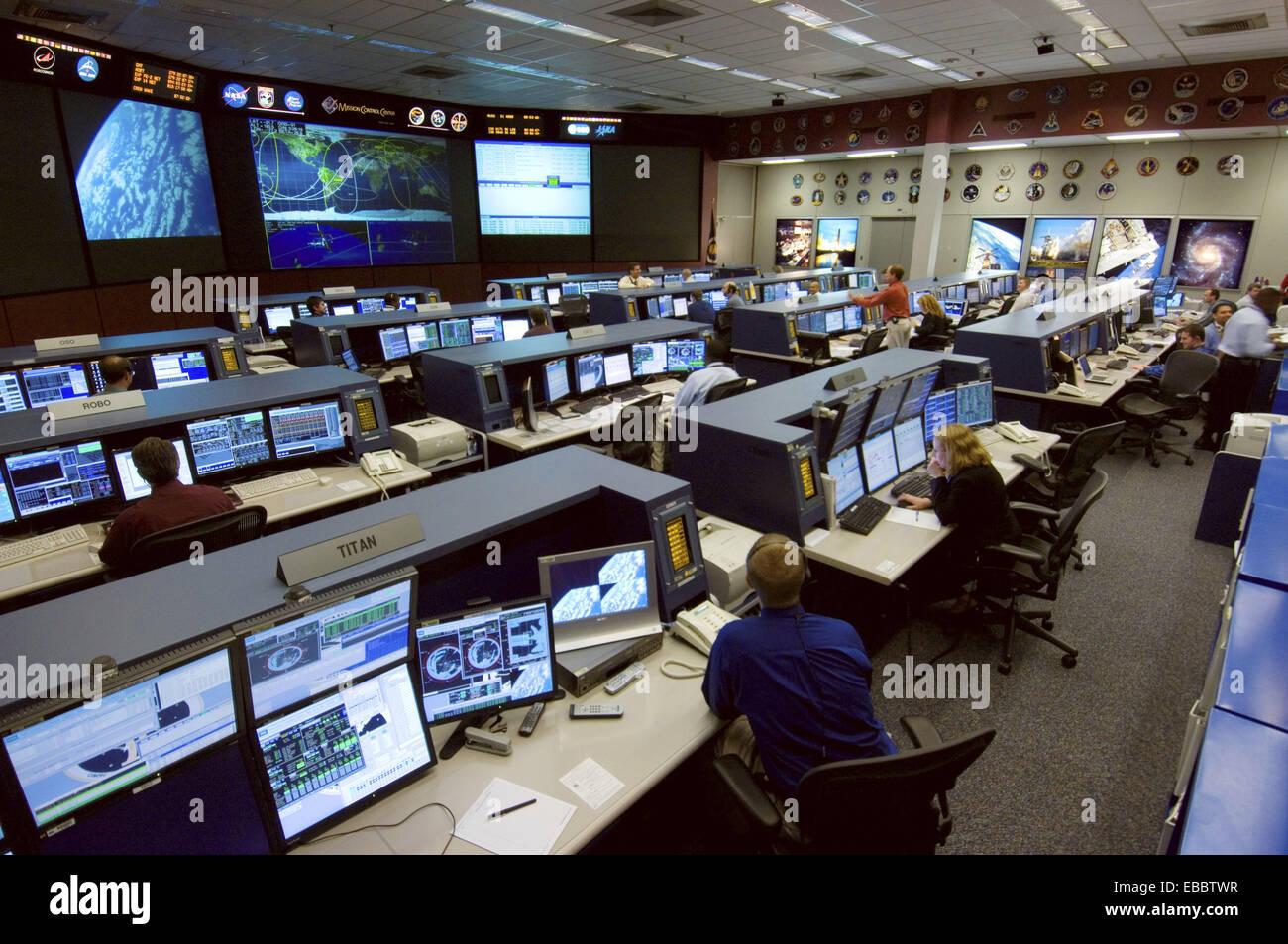 (6 octobre 2006)--- Station spatiale internationale les contrôleurs de vol ont ce domaine comme leur nouvelle Photo Stock