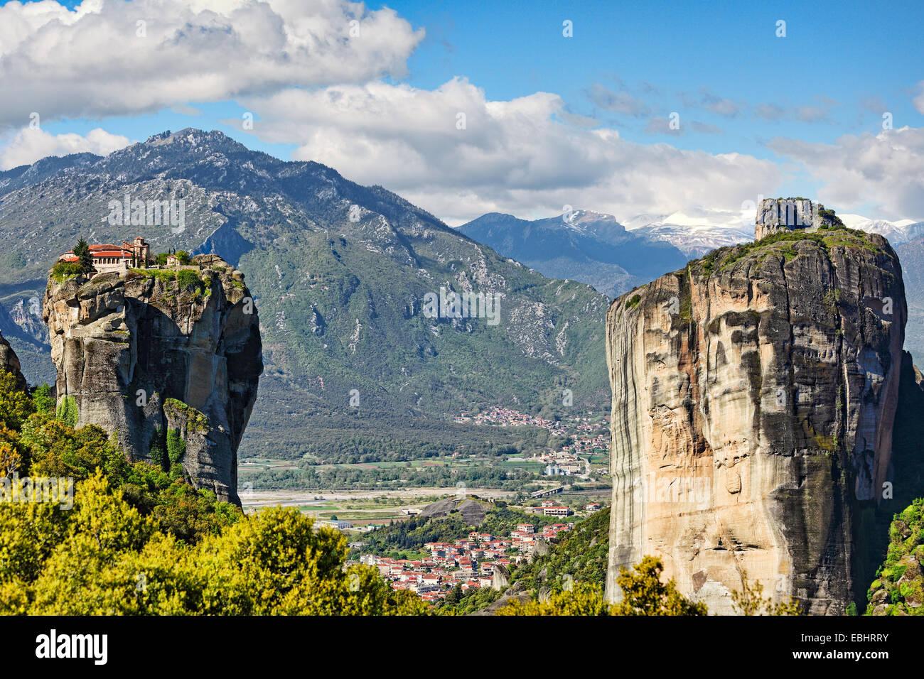 Monastère de la Sainte Trinité ou monastère Aghia Triada dans le monastère des météores Photo Stock