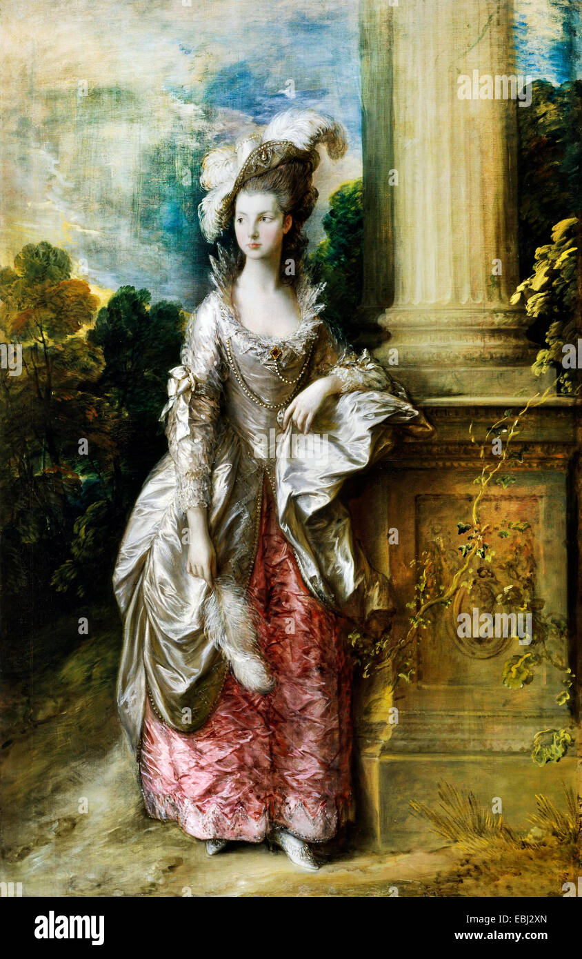 Thomas Gainsborough, l'Honorable Mme Graham 1775 Huile sur toile. Scottish National Gallery, Édimbourg, Photo Stock