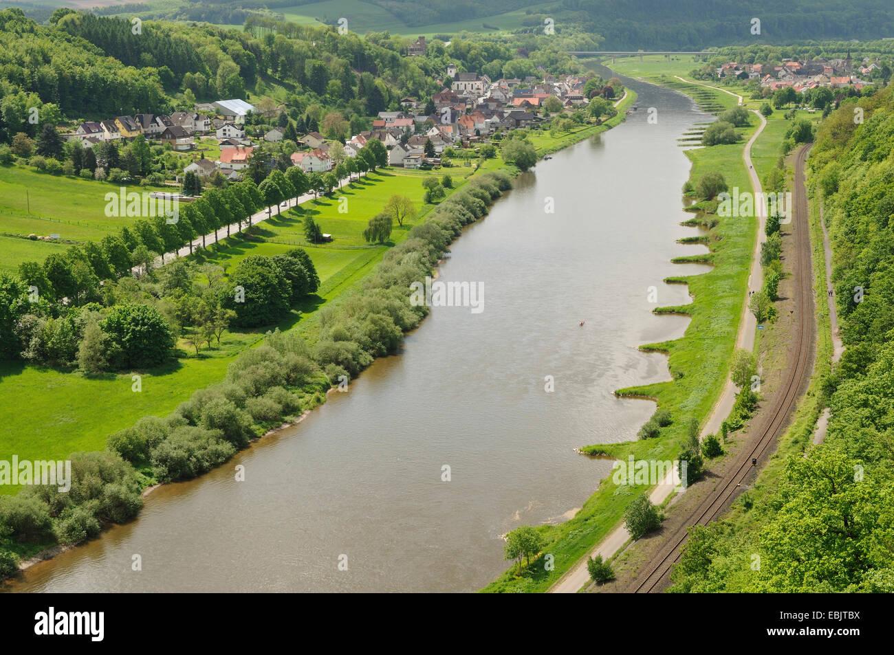 Vue panoramique sur la Weser au Danemark, Allemagne Banque D'Images