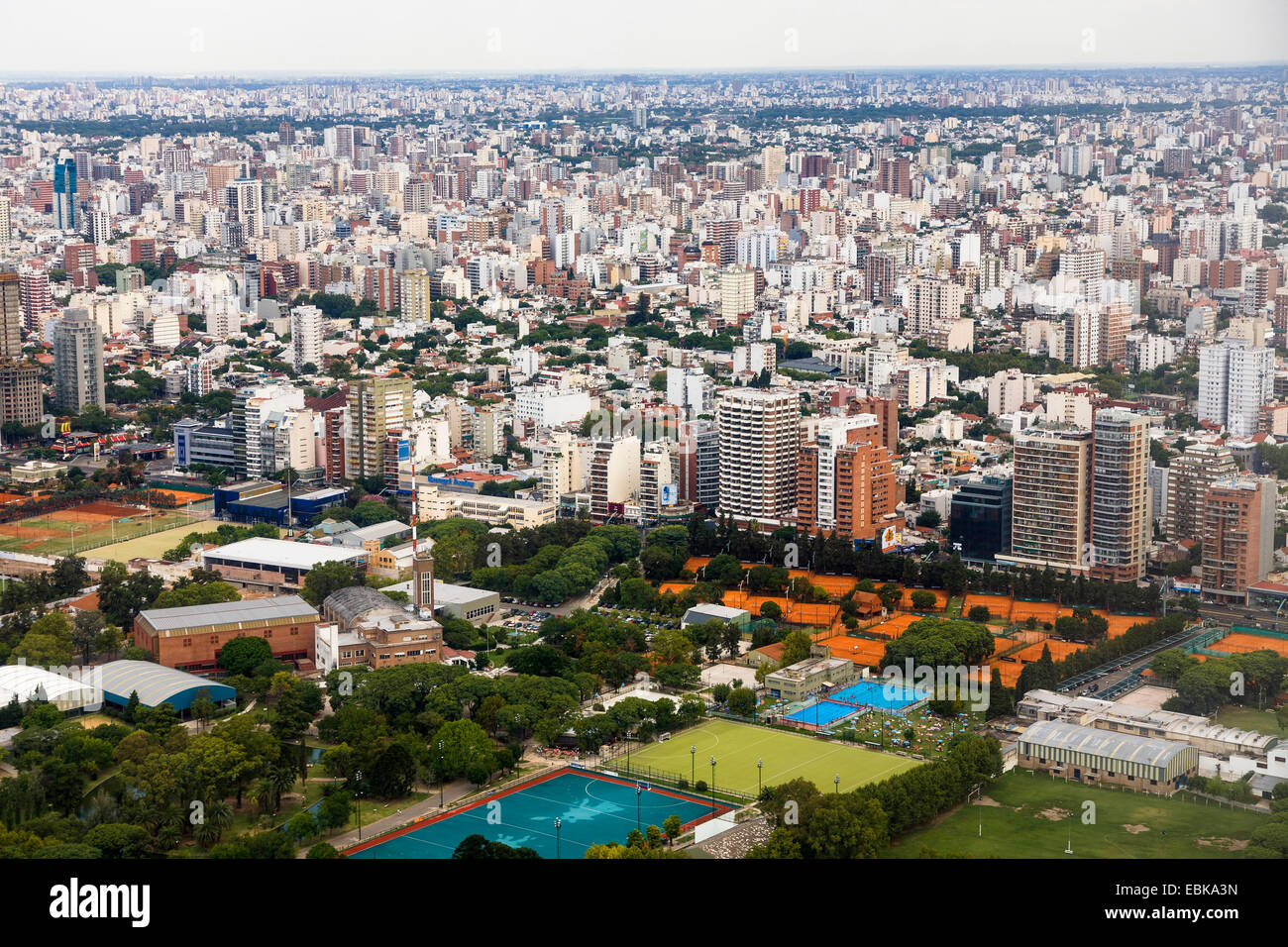 Vue de la ville, le Brésil, Nunez, Buenos Aires Photo Stock