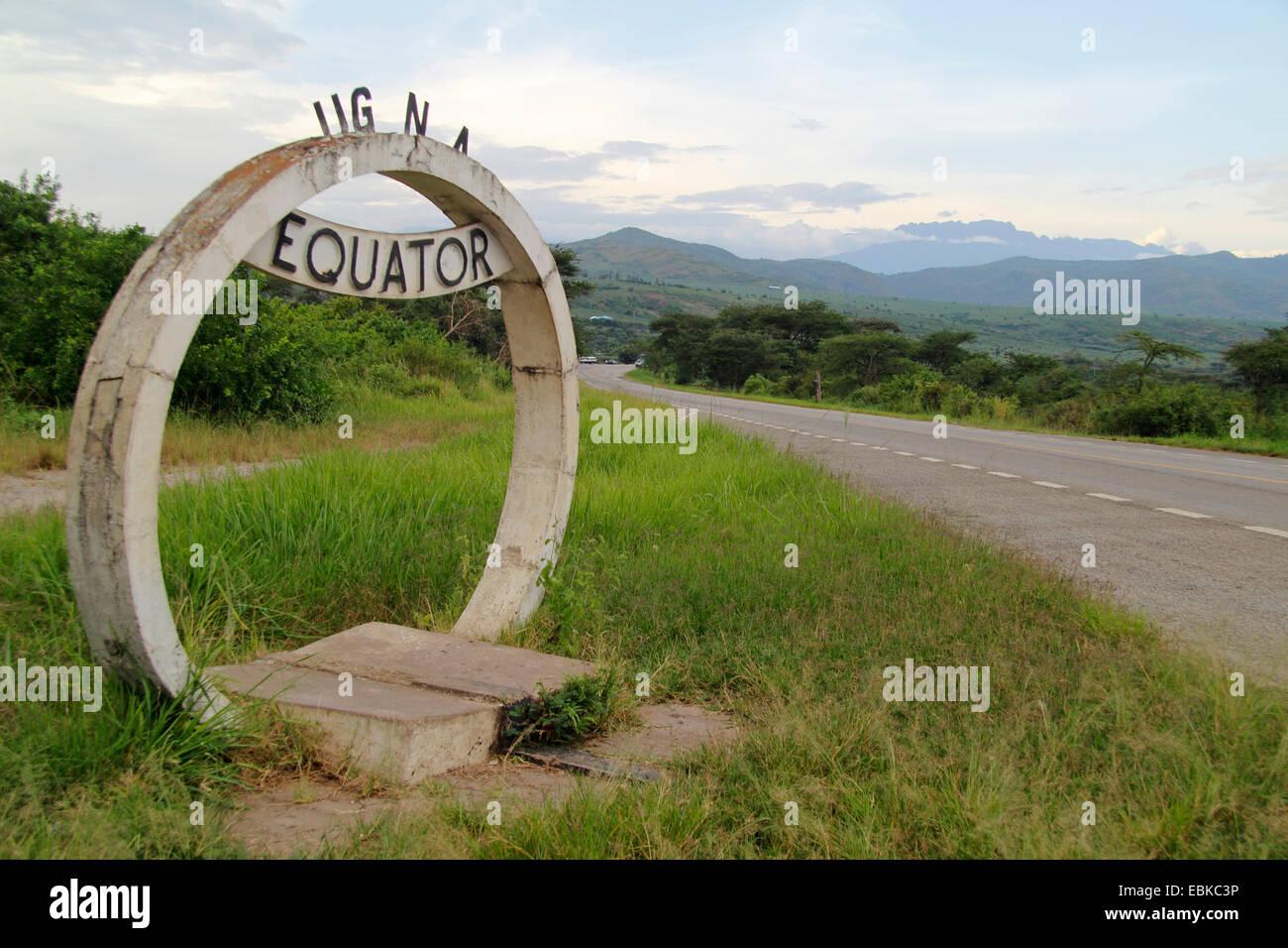 Inscrivez-vous à l'équateur, l'Ouganda un boarder stree Photo Stock