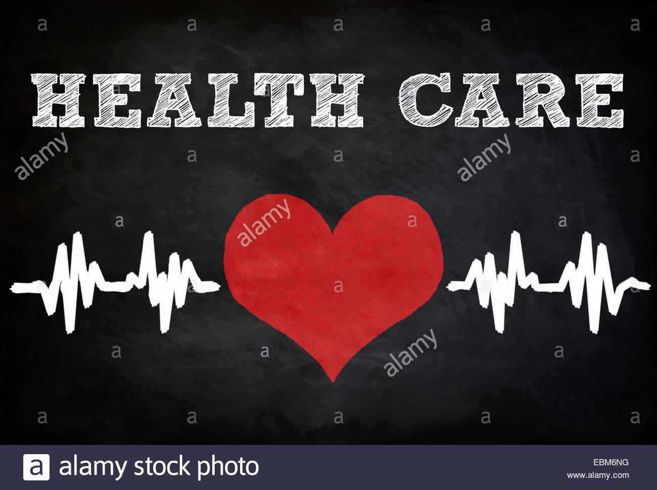 Concept de soins de santé - tableau Photo Stock