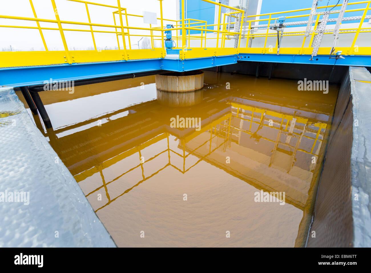 Usine de traitement des eaux pluviales (RWTP). Fonderie de l'environnement. Photo Stock