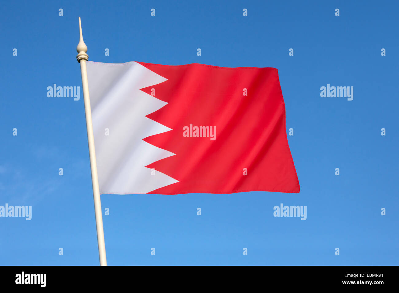 Drapeau de Bahreïn Photo Stock